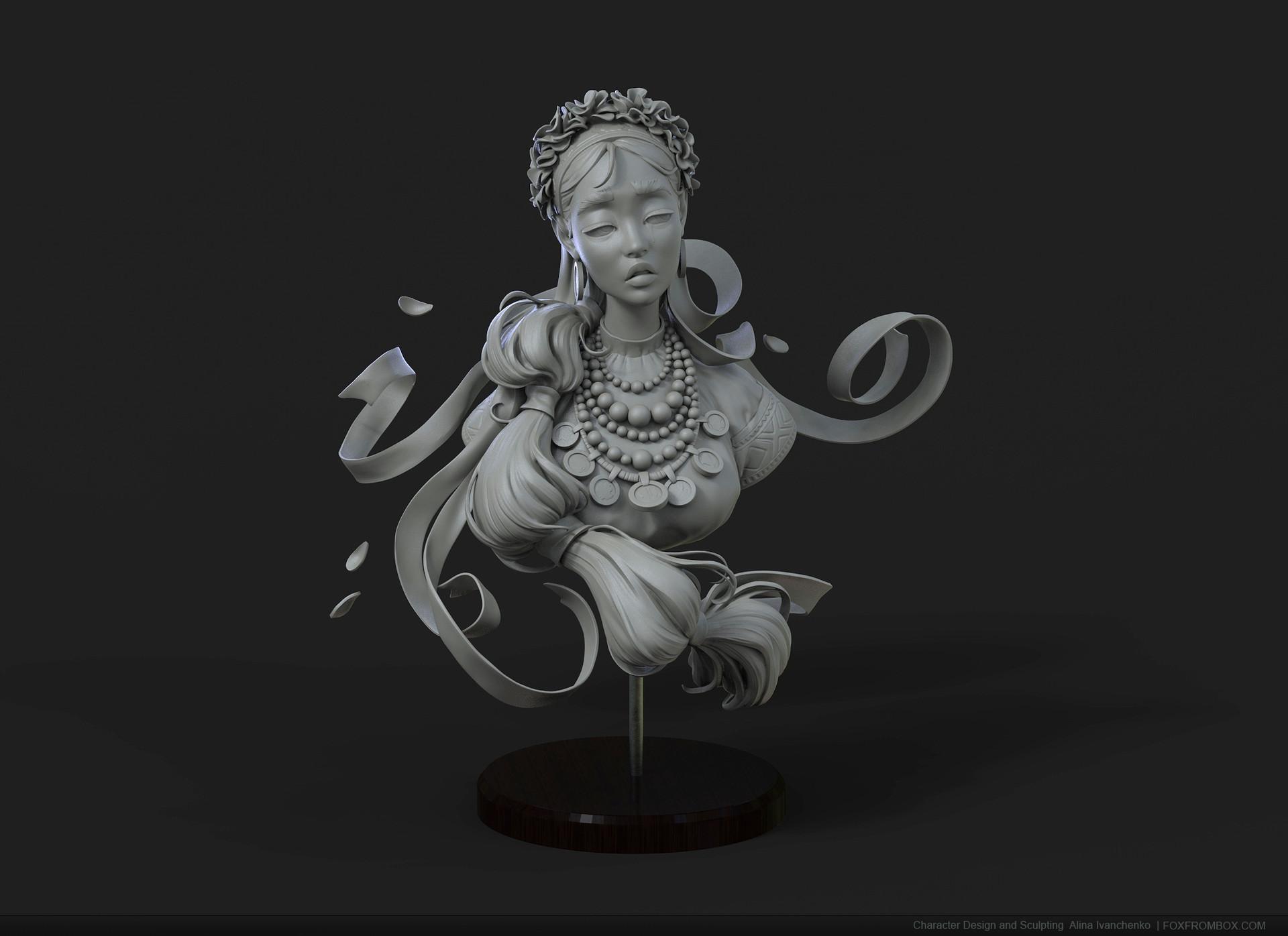 Alina ivanchenko slav bust keyshot01