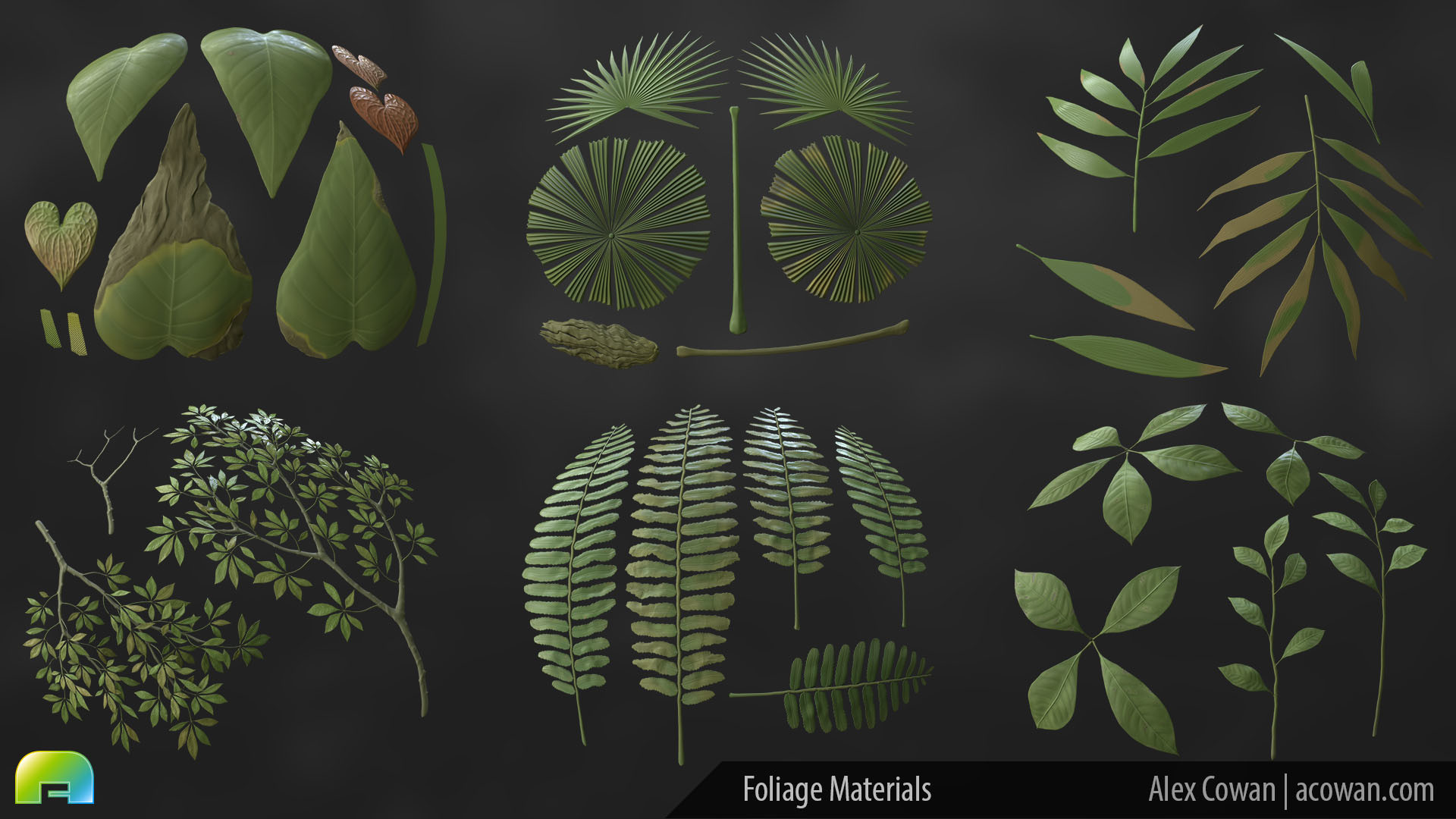 Alexander cowan jungle materials foliage