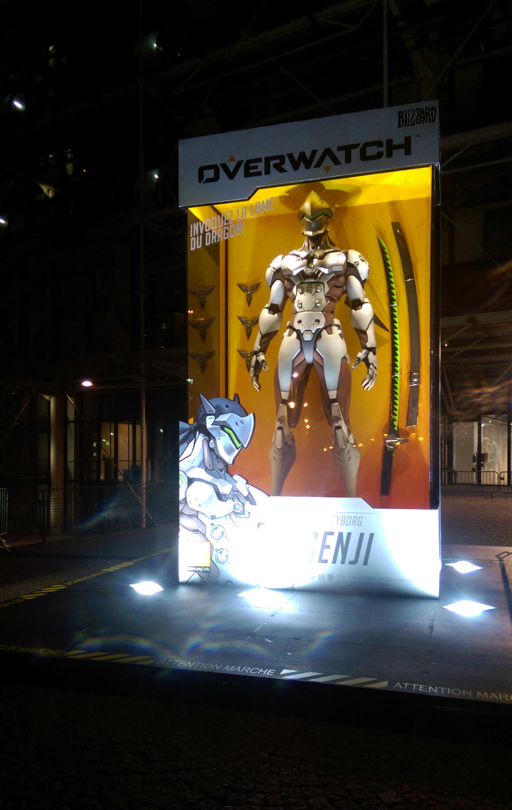 Finished installation of Genji in Paris