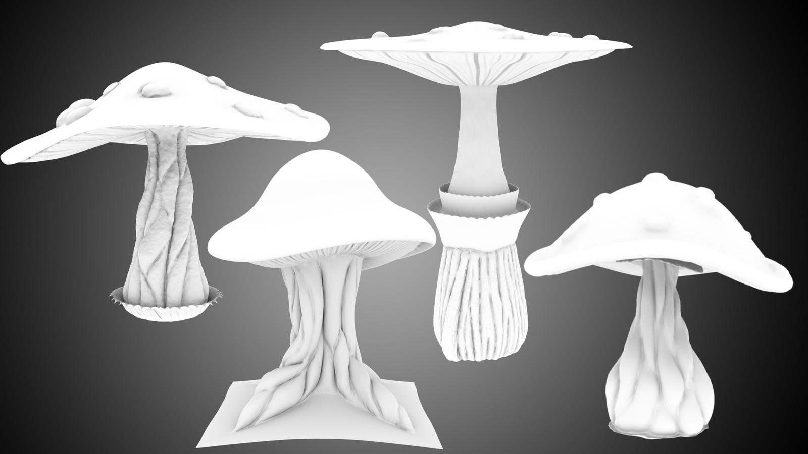 Mushroom models OC with Brush