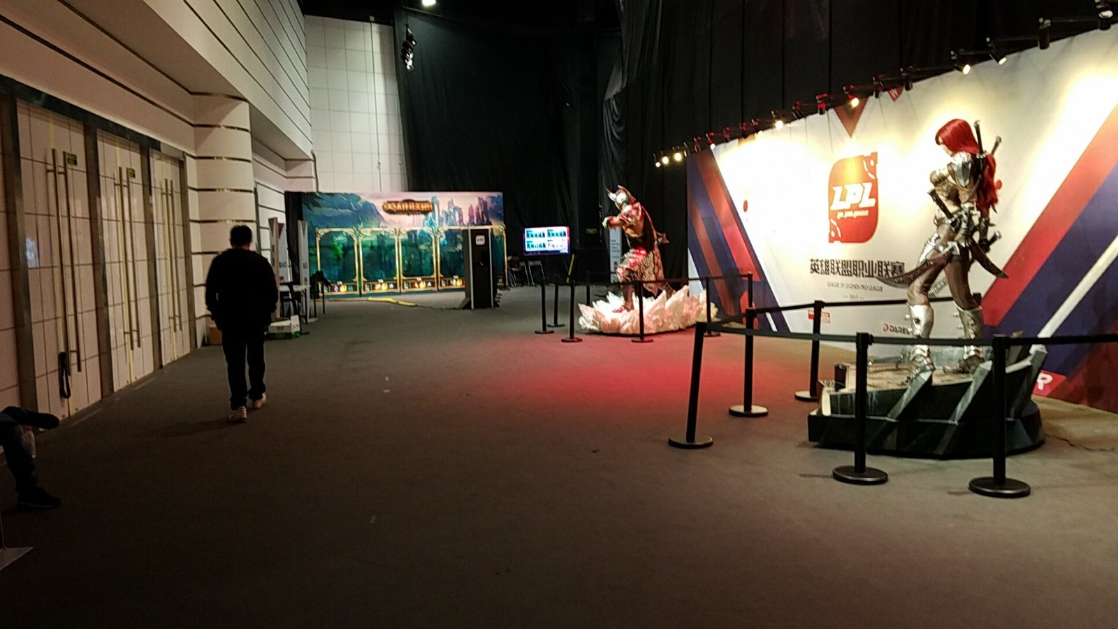 Entryway to the LoL Worlds event