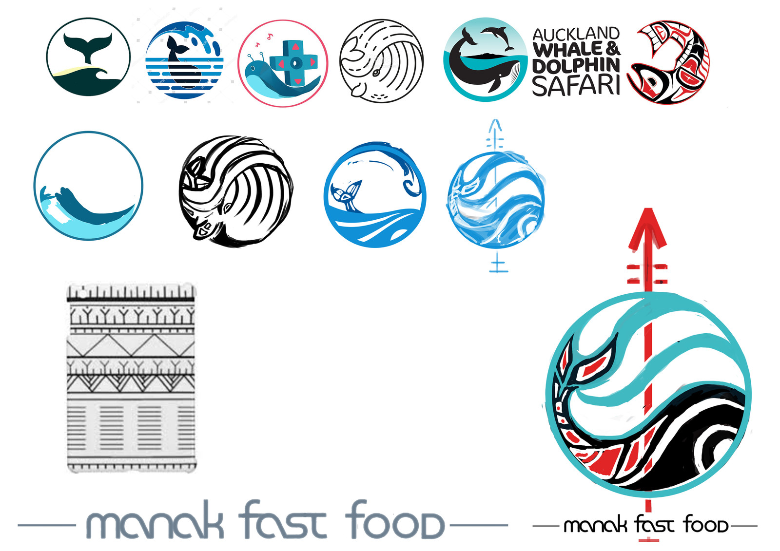 Logo research (the top ones are refs, the other my work based on them)