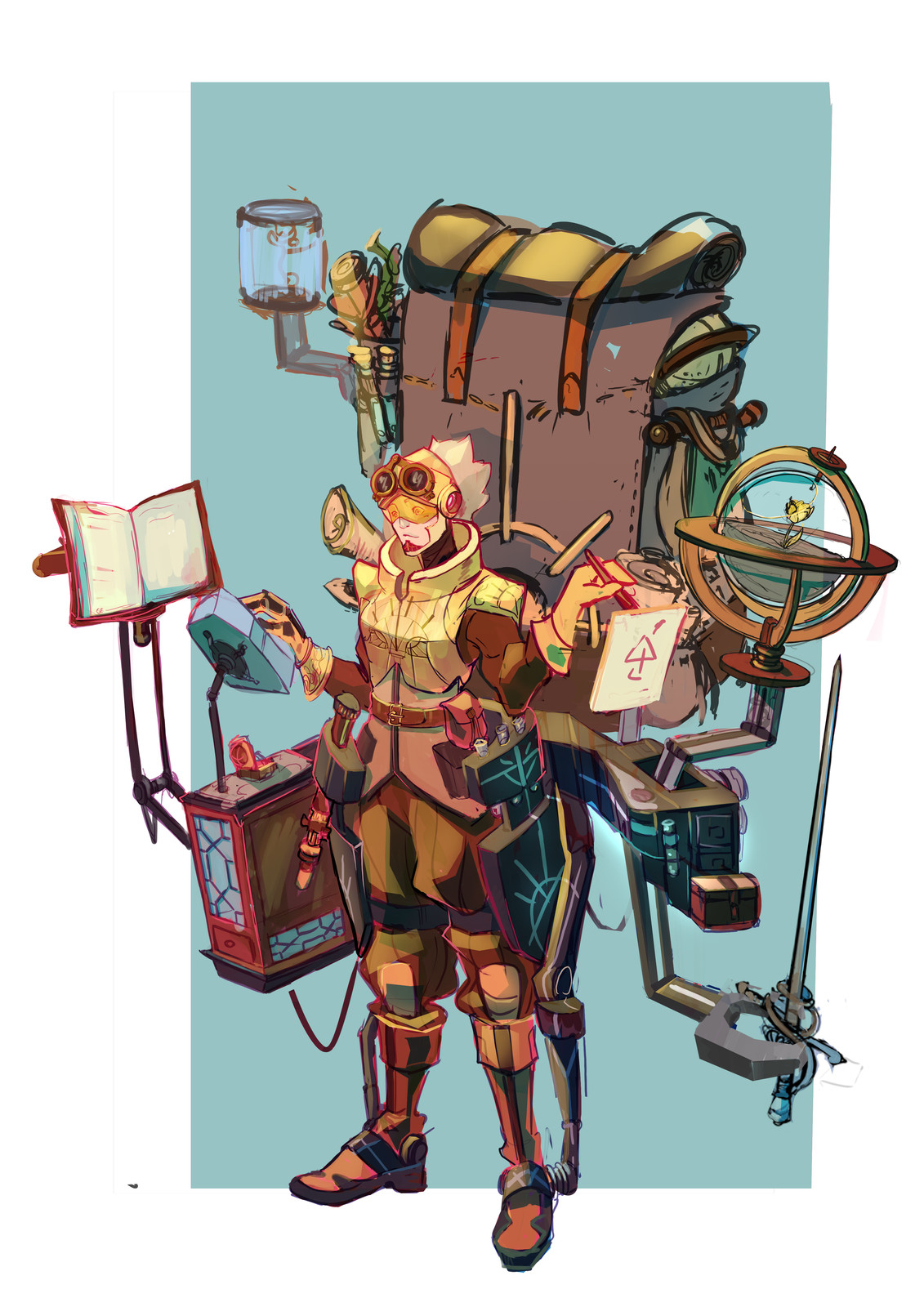 Ranger n°1 : Native nerd and expert, here to collect a maximum of data. Thanks for that exoskeleton helping them carrying all of that stuff