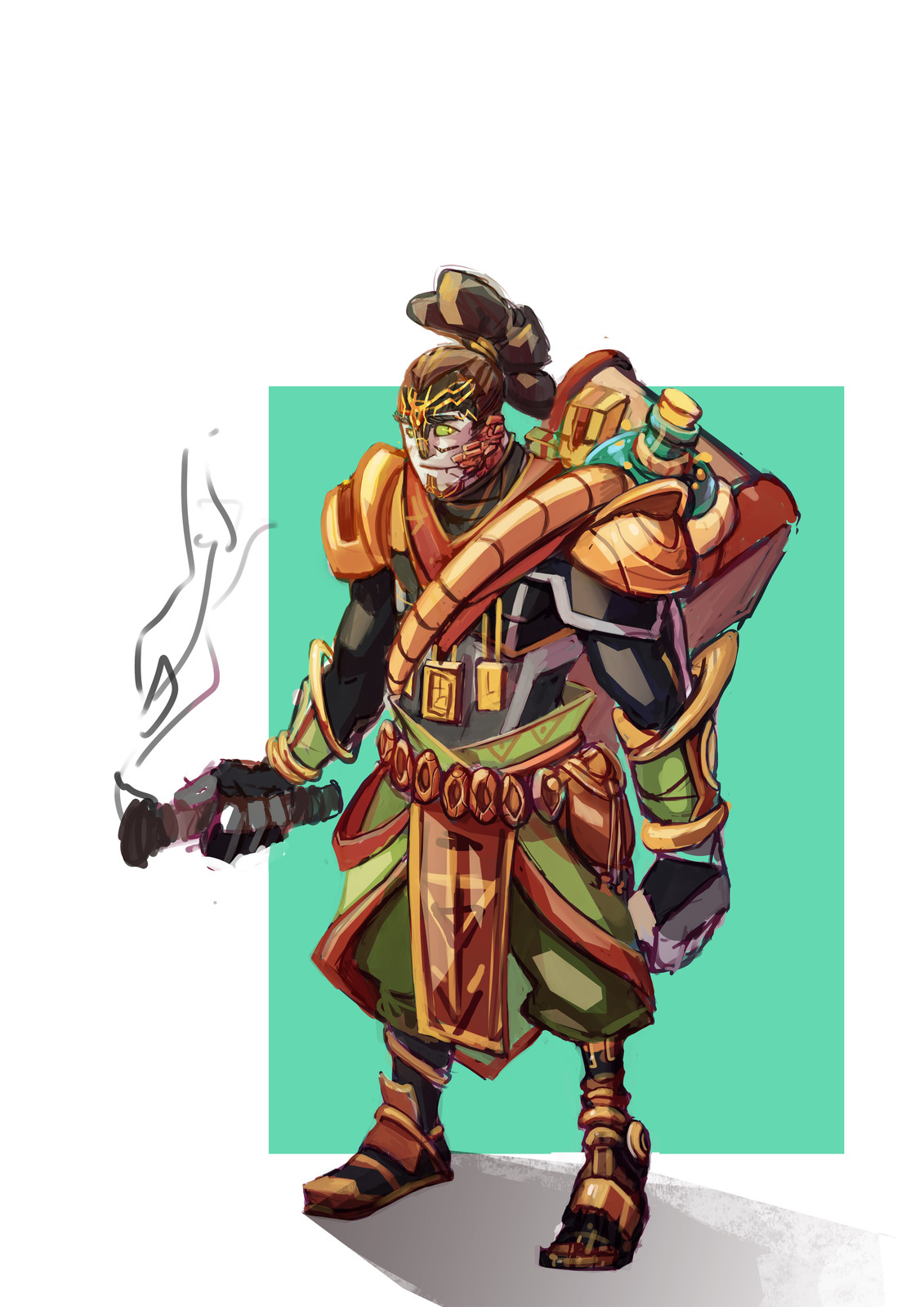 Native ranger, the colons healed his wounded leg, and now he fells the need to help them and to be the bridge between natives and colons