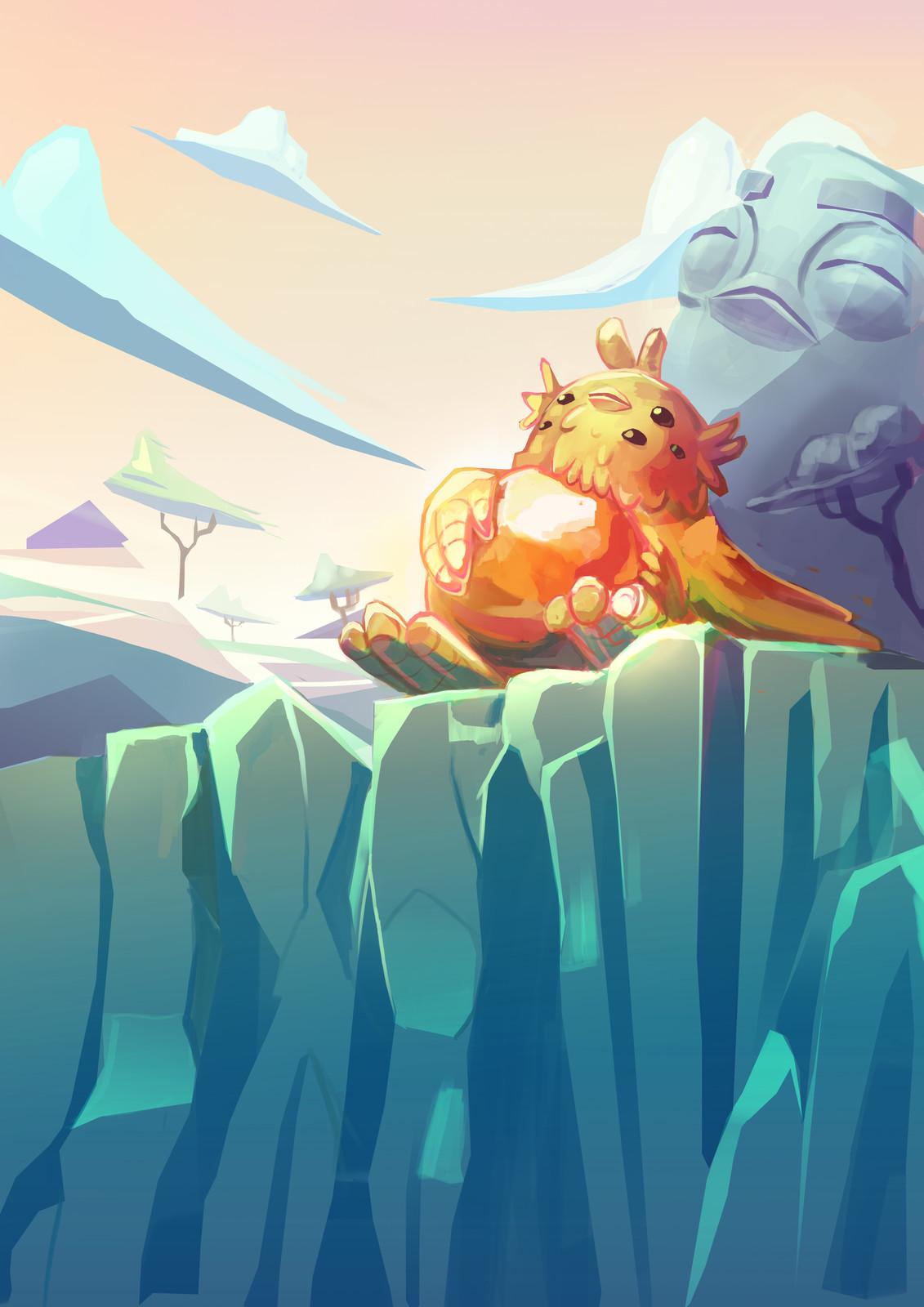 Speedpaint theme : Frozen planet: creature keeping himself warm  Time : 1h30