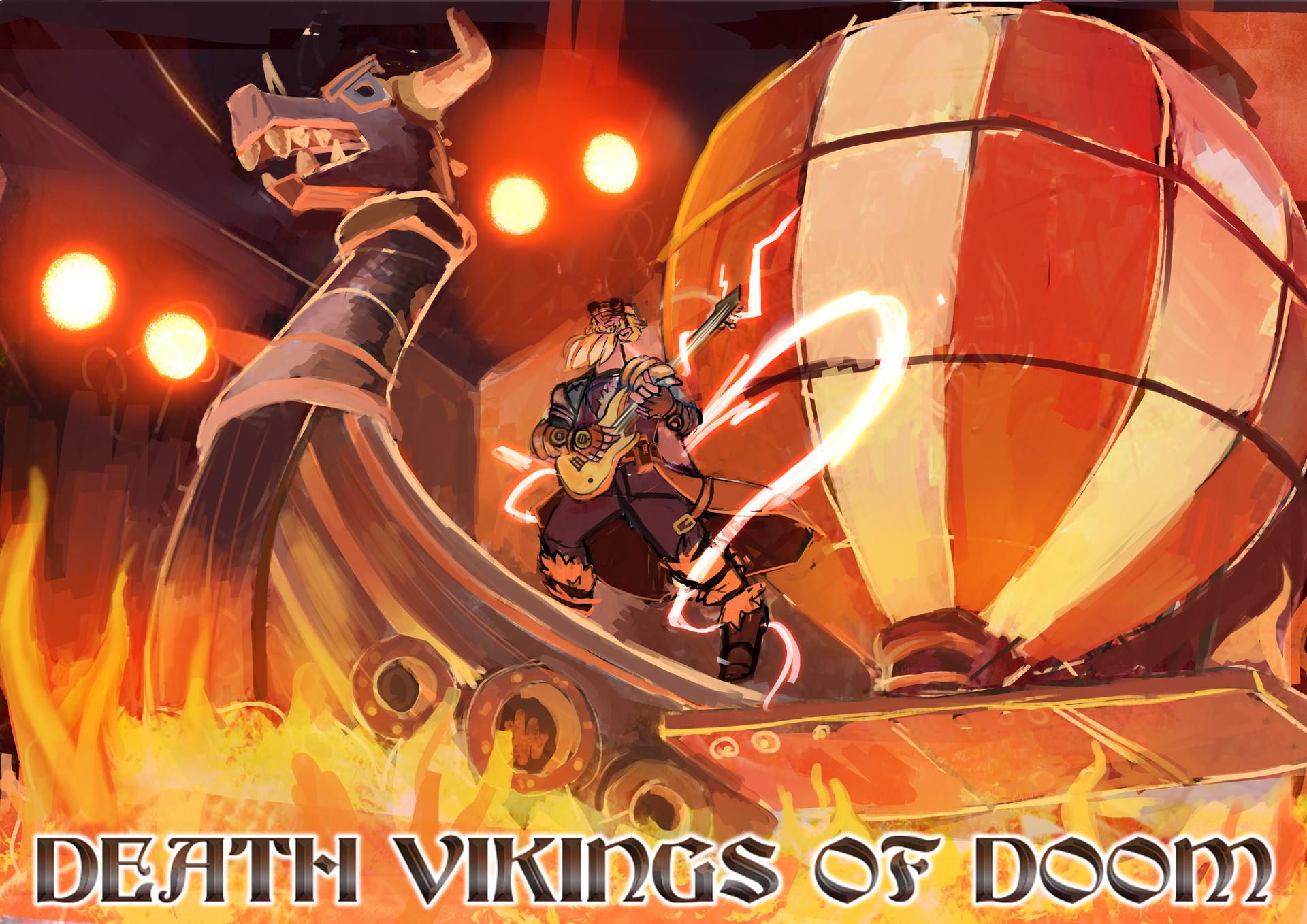 Nickie villa groupe de heavy metal viking steampunk