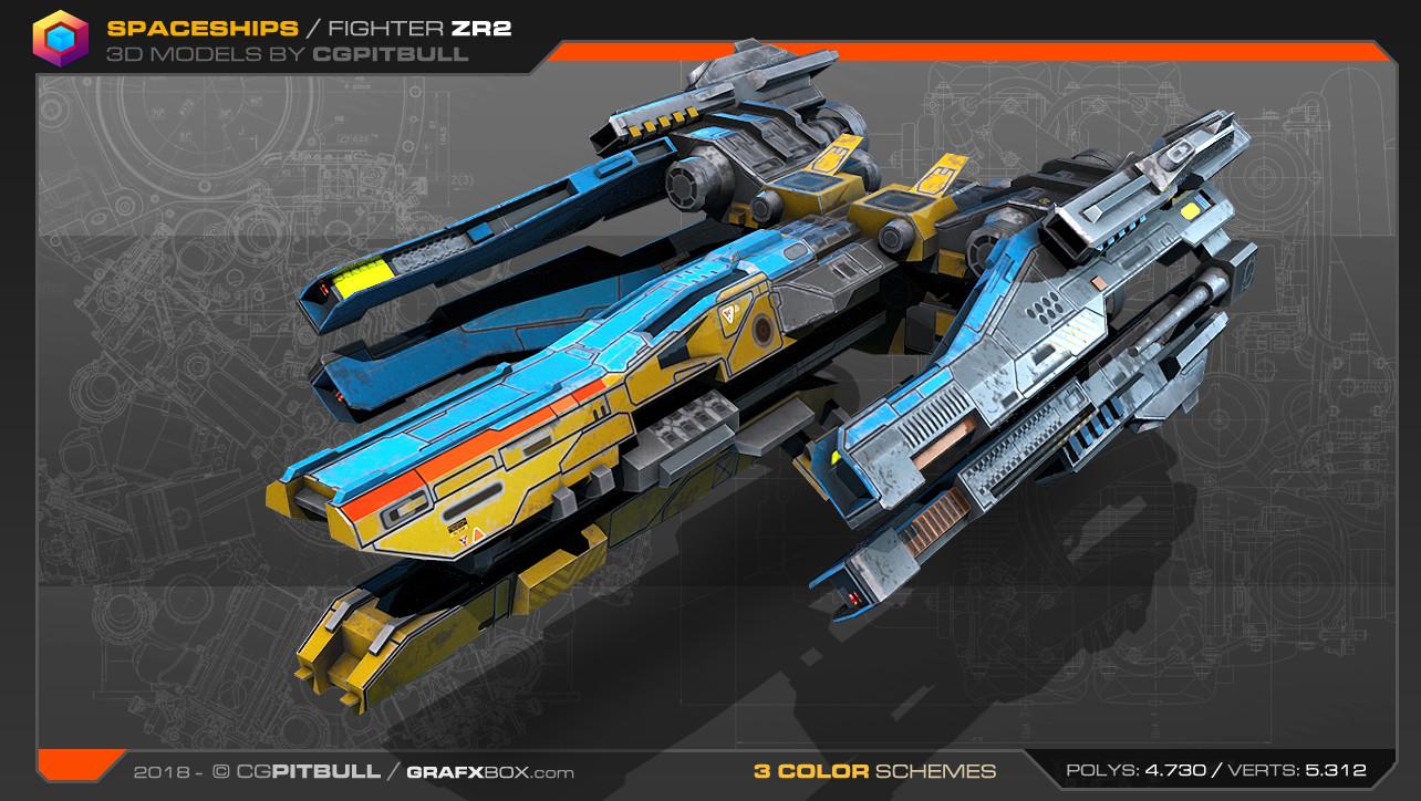 ArtStation - New Low-res Spaceships 3D Models, Stephane