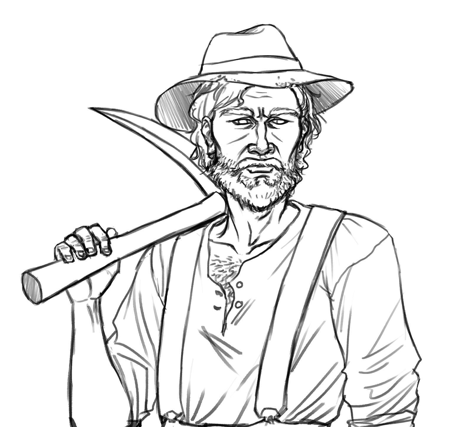 Alt. character concept #3 (lines)