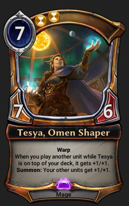 Eric kenji aoyagi tesya omen shaper card