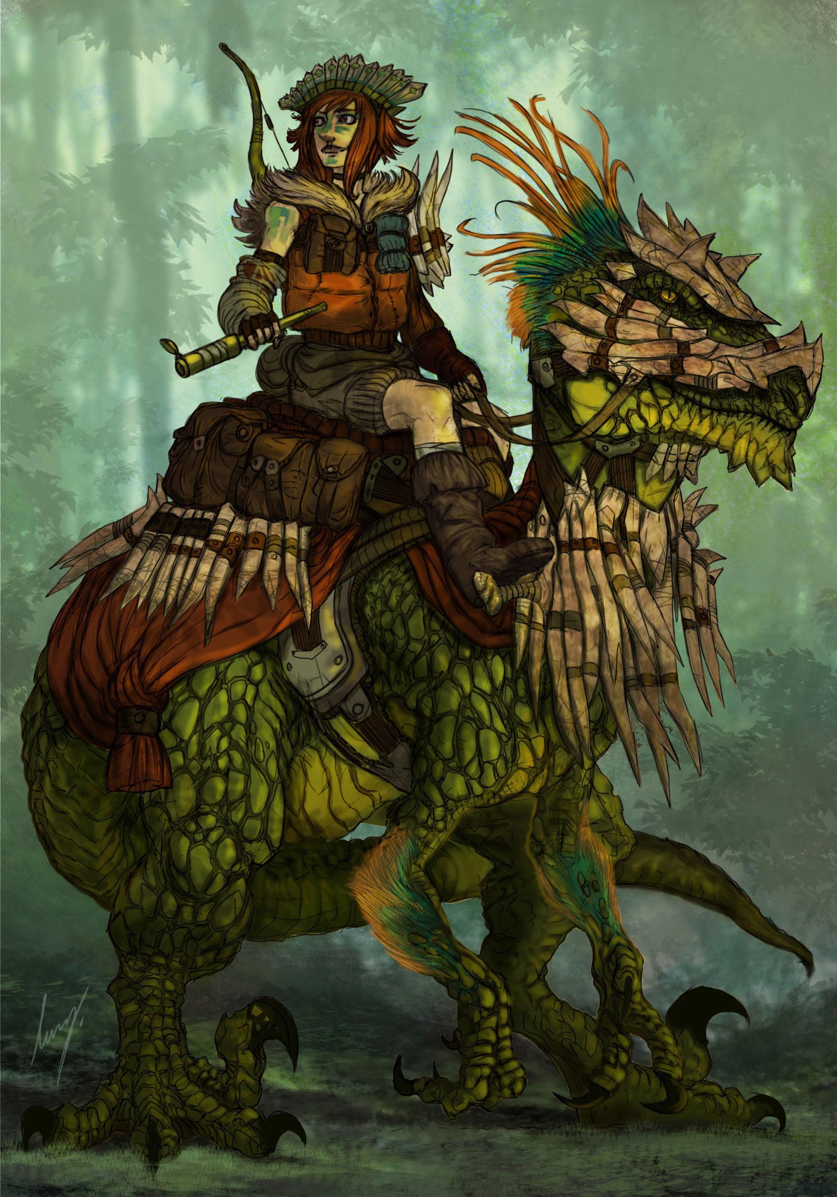 ArtStation - Dinosaur Rider, Deniz Ündan