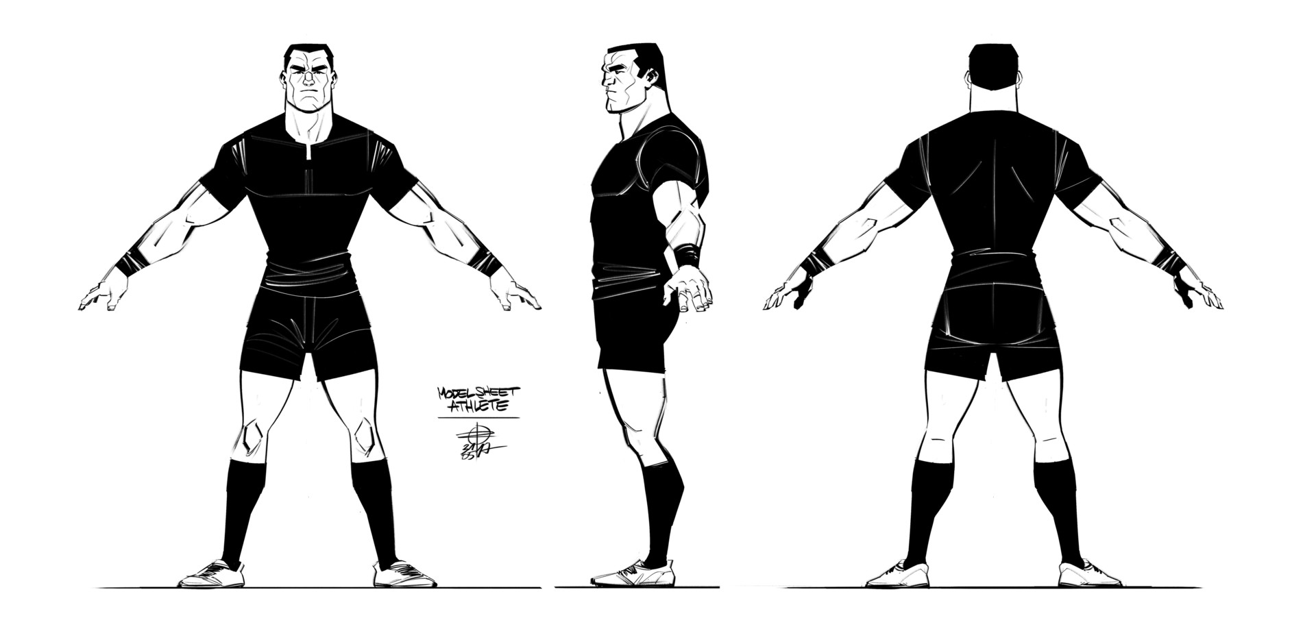 Renaud roche modelsheet athlete