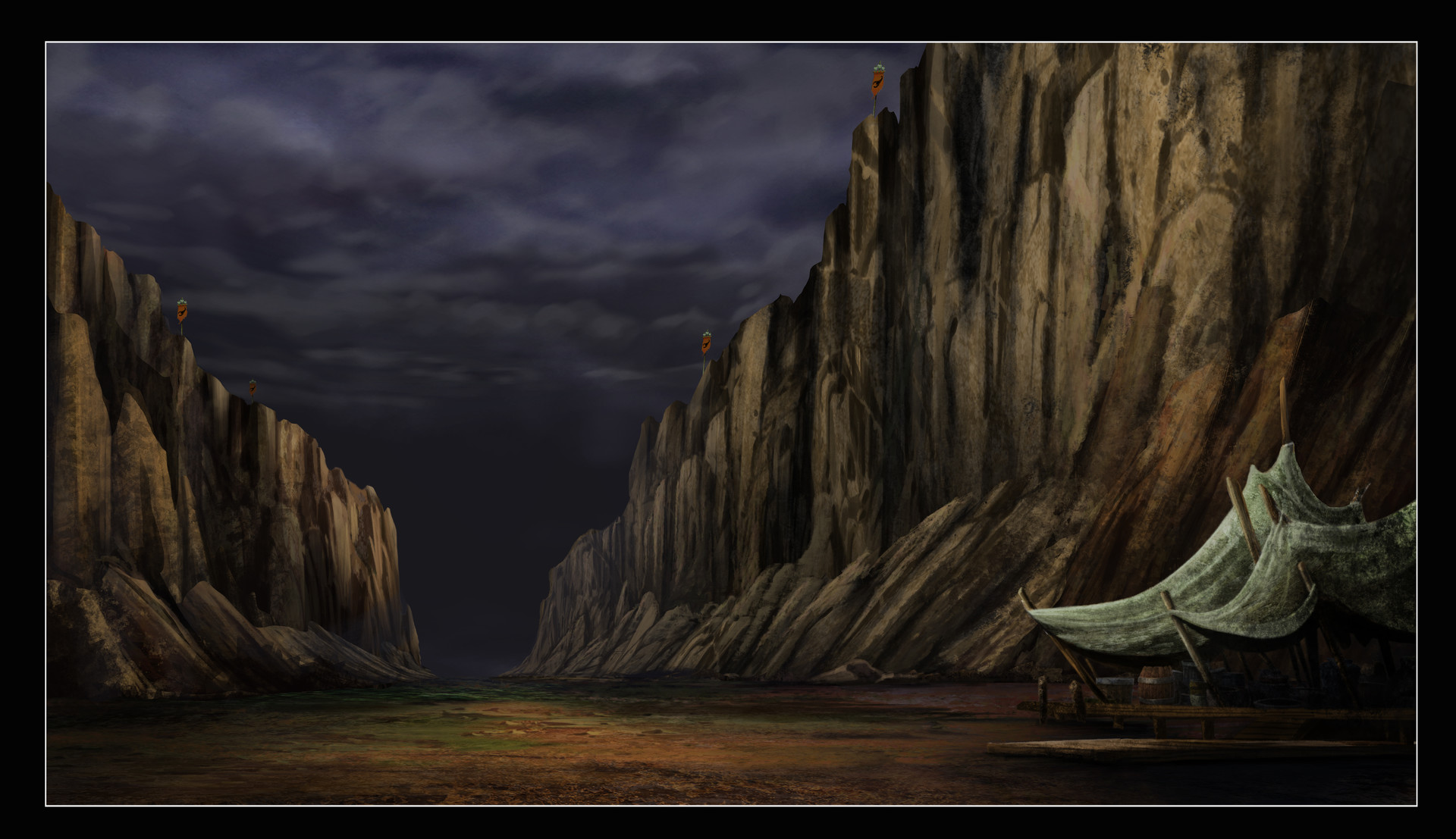 One of the environment matte-paintings for Kulipari