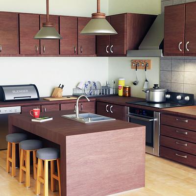 George mavroeidis 3d modeling blender kitchen