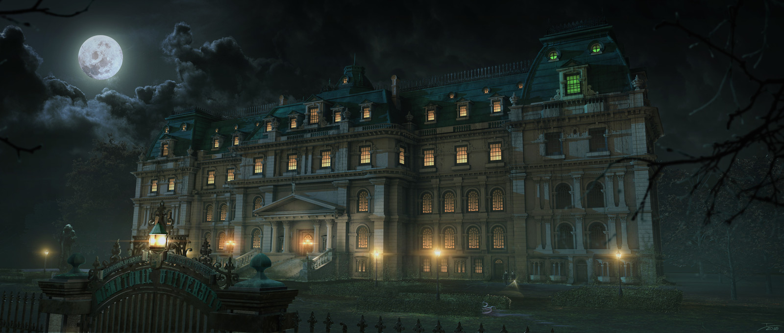 My view of the Miskatonic University from Lovecraft's tales.