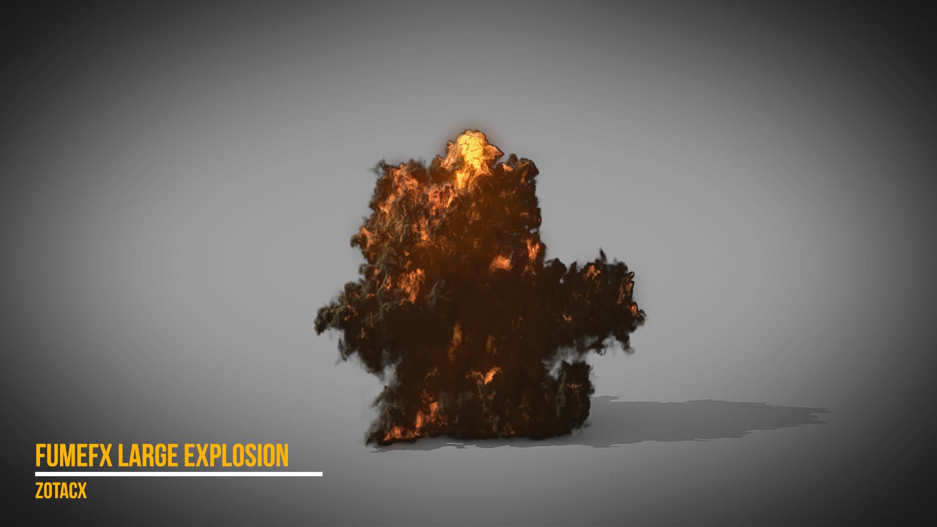 ArtStation - Large Explosion - VFX Breakdown, Rodrigo García