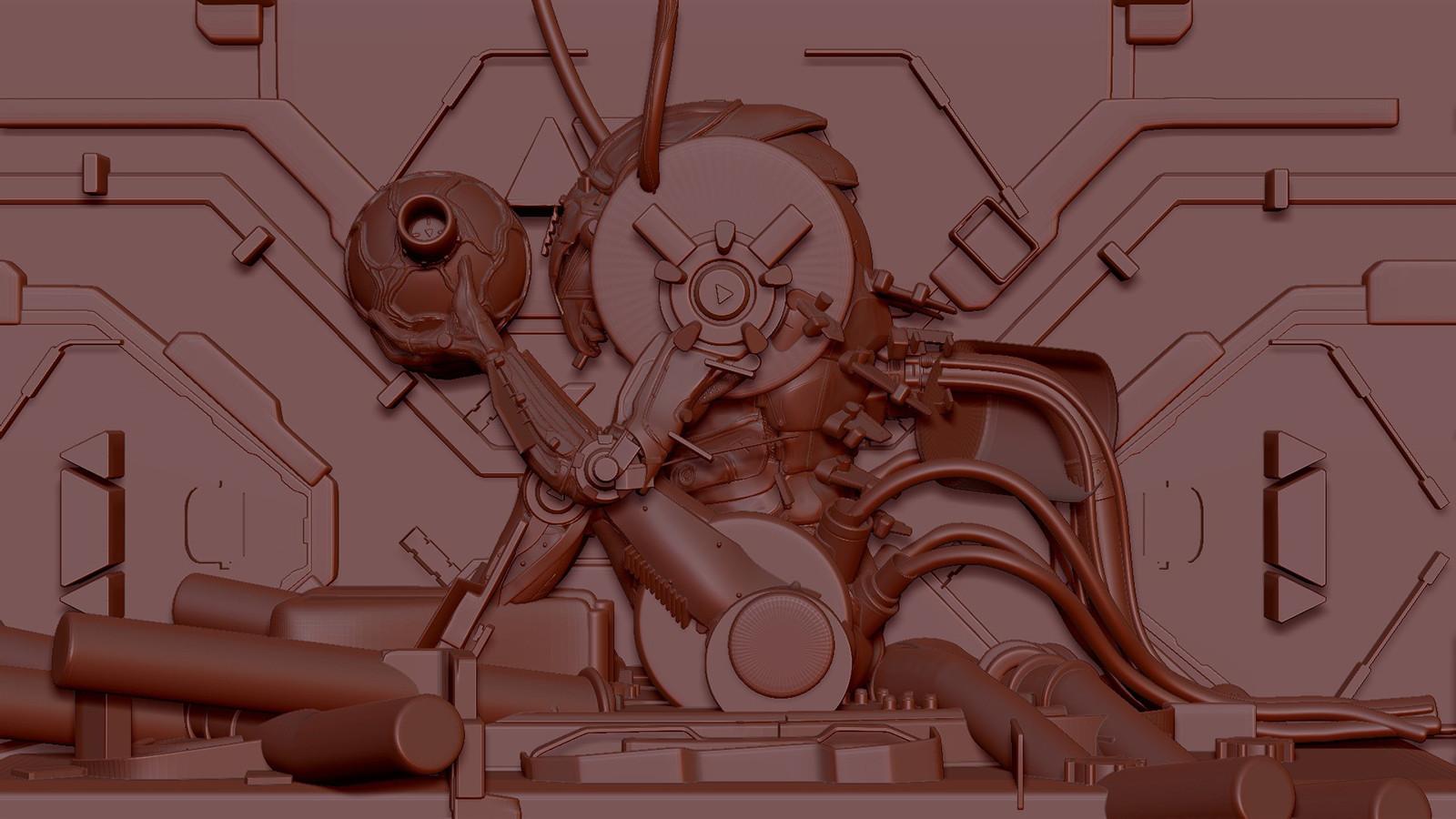 Chozo Metroid Zbrush Booleans