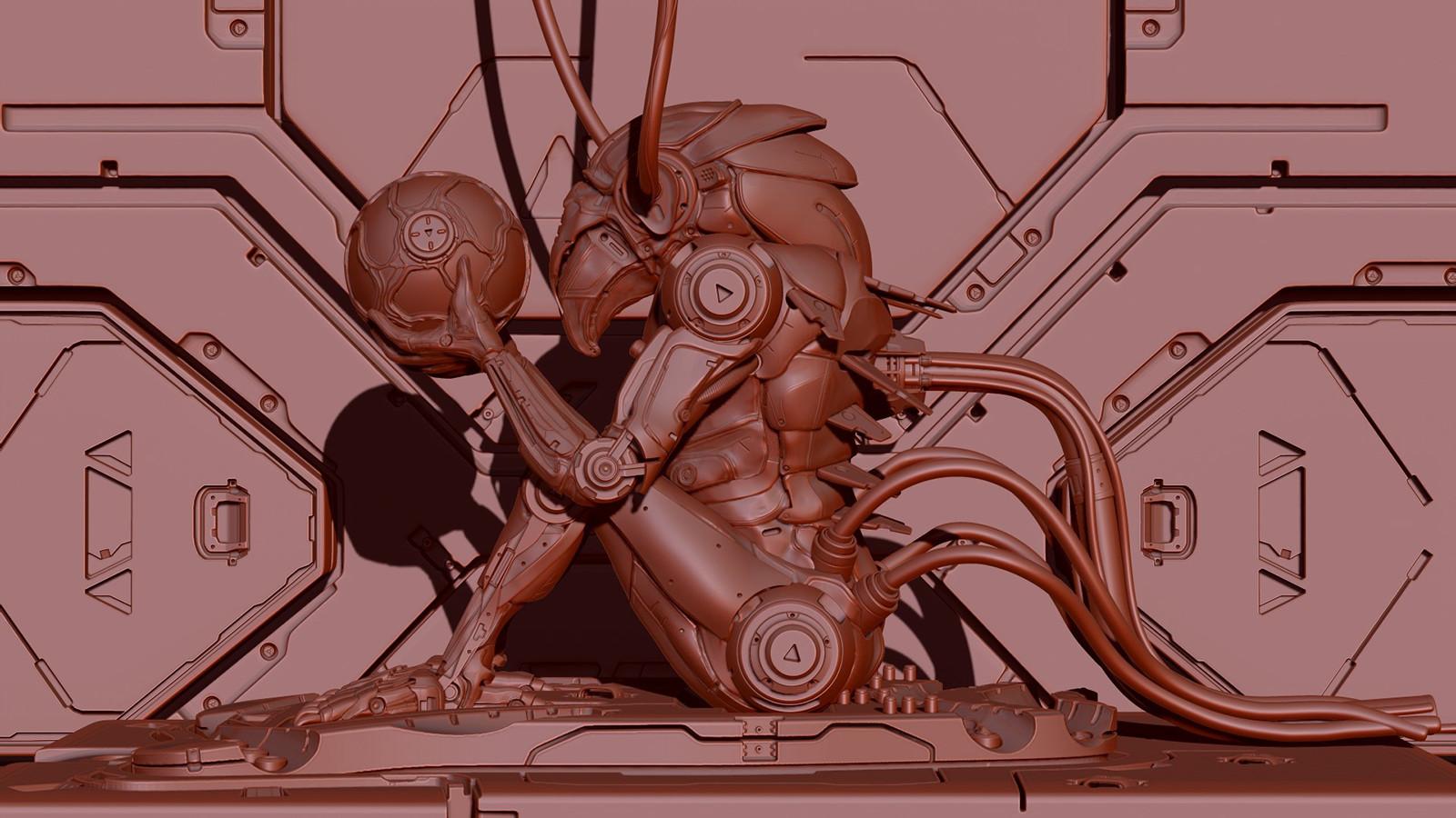 Chozo Metroid Zbrush Final