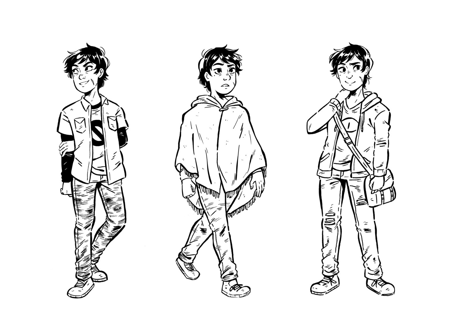 Finch Character Sheet Lineart