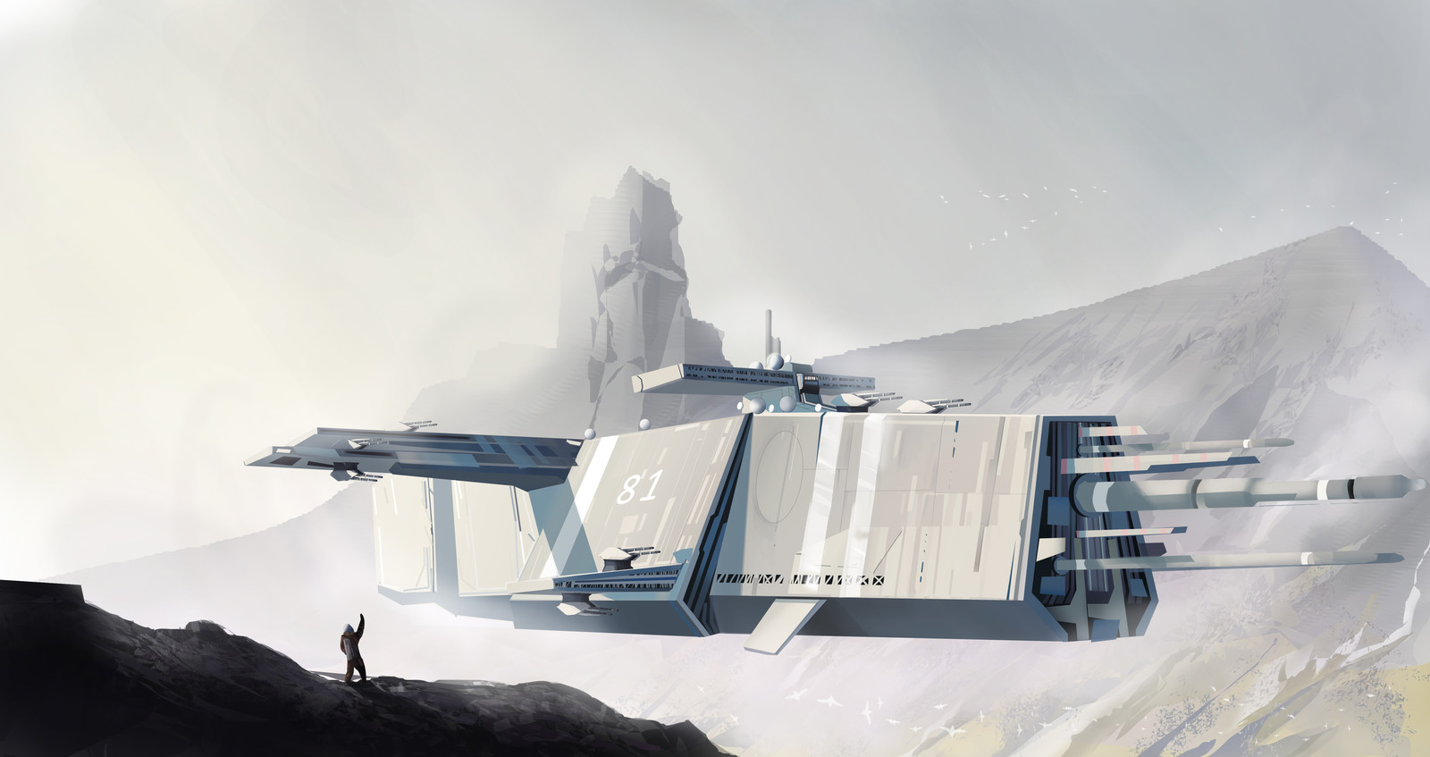 Alliance cruiser  on planet Afrodita