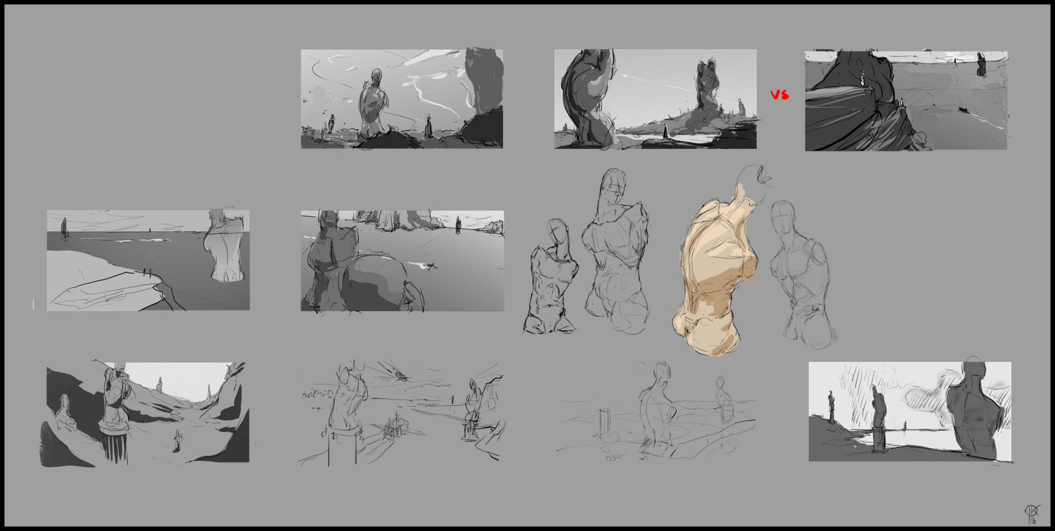 designing the figure and thumbnailing