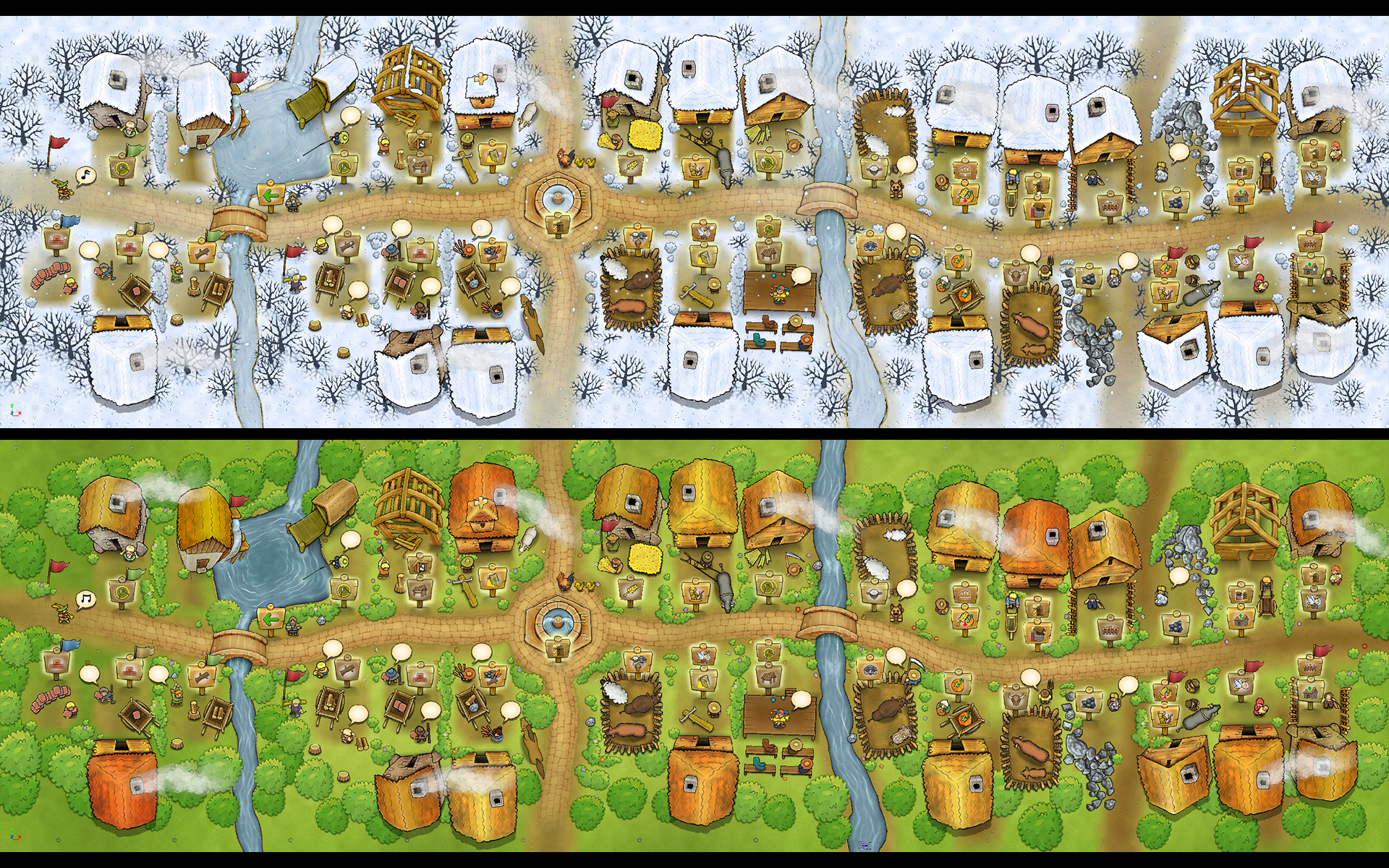 Agricola - The Town in Winter and Spring