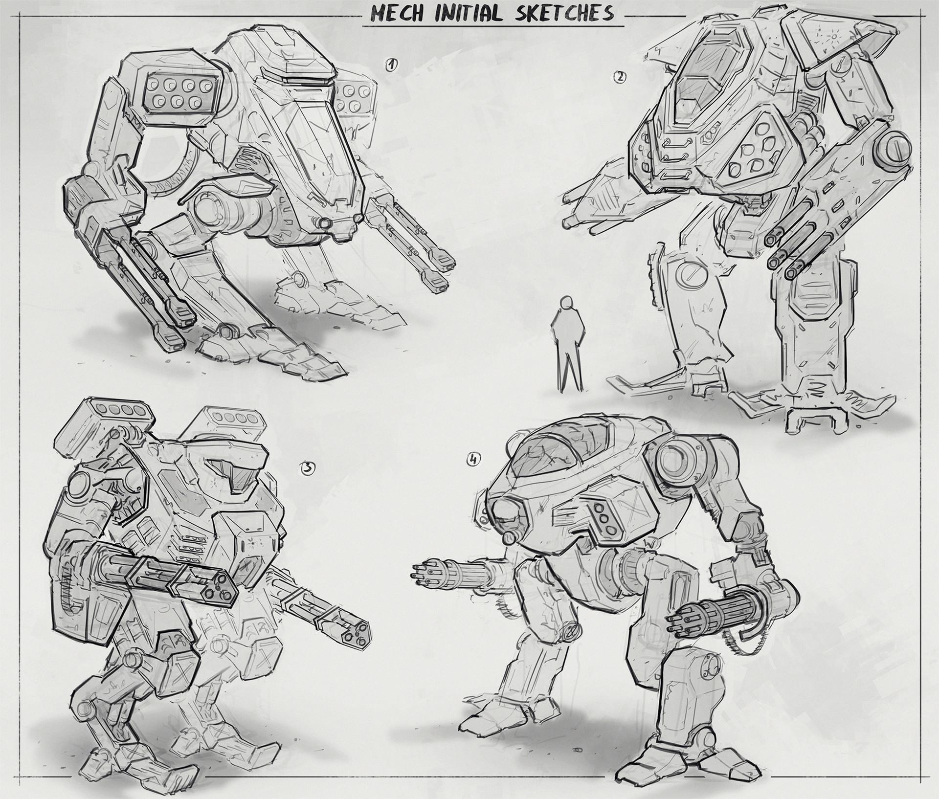 Martynas latusinskas mech initial sketches 1 martynas latusinskas