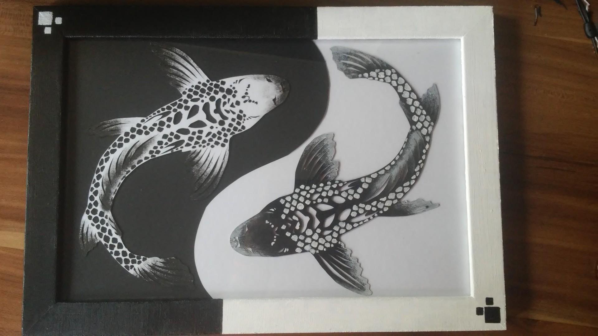 Artstation Papercut Yin Yang Koi Therese Theone