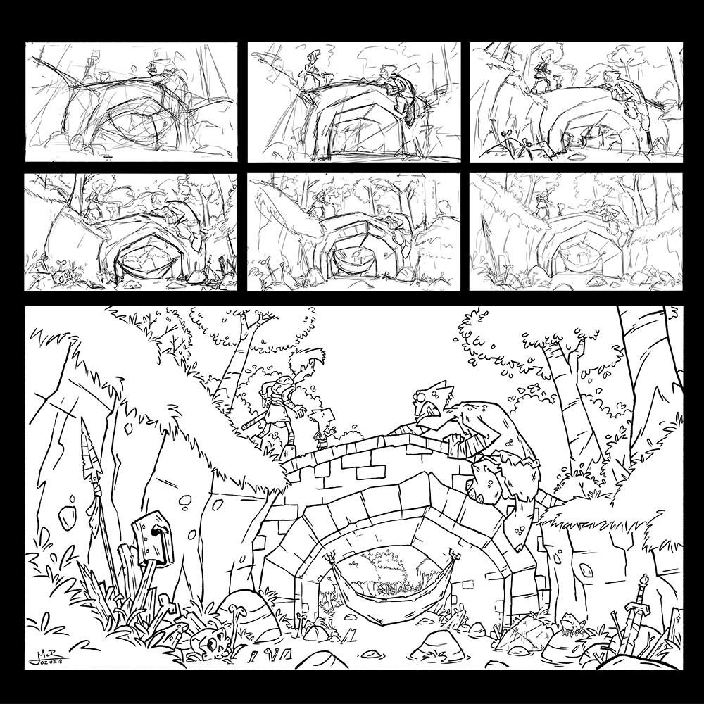 Mike cotton russell process bridge troll sketch