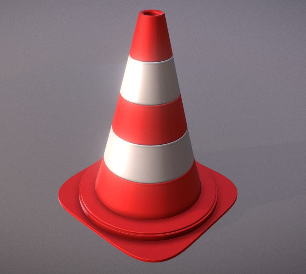 Traffic Cones High Poly Pylons.