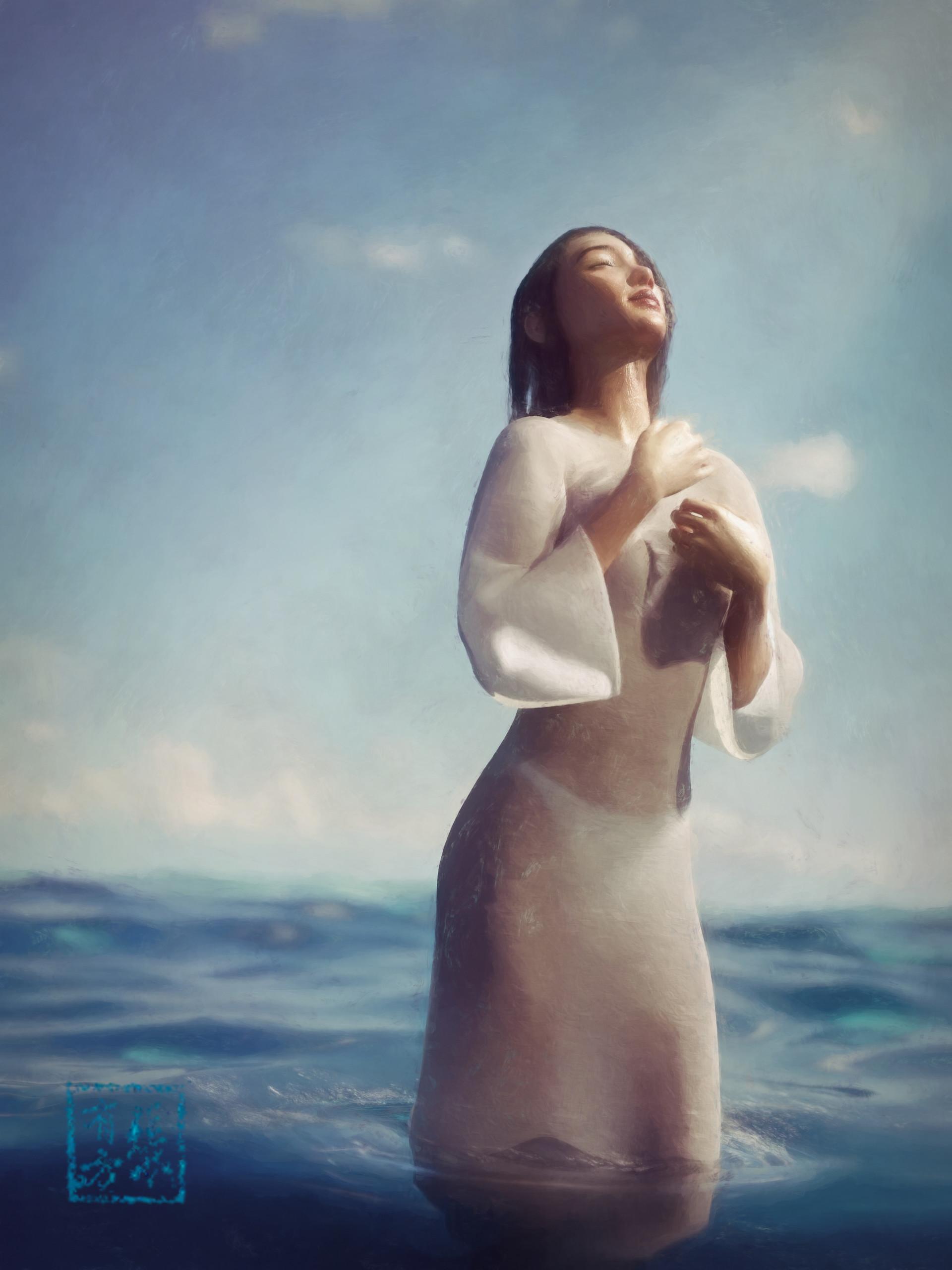 Benni a baptismal painted