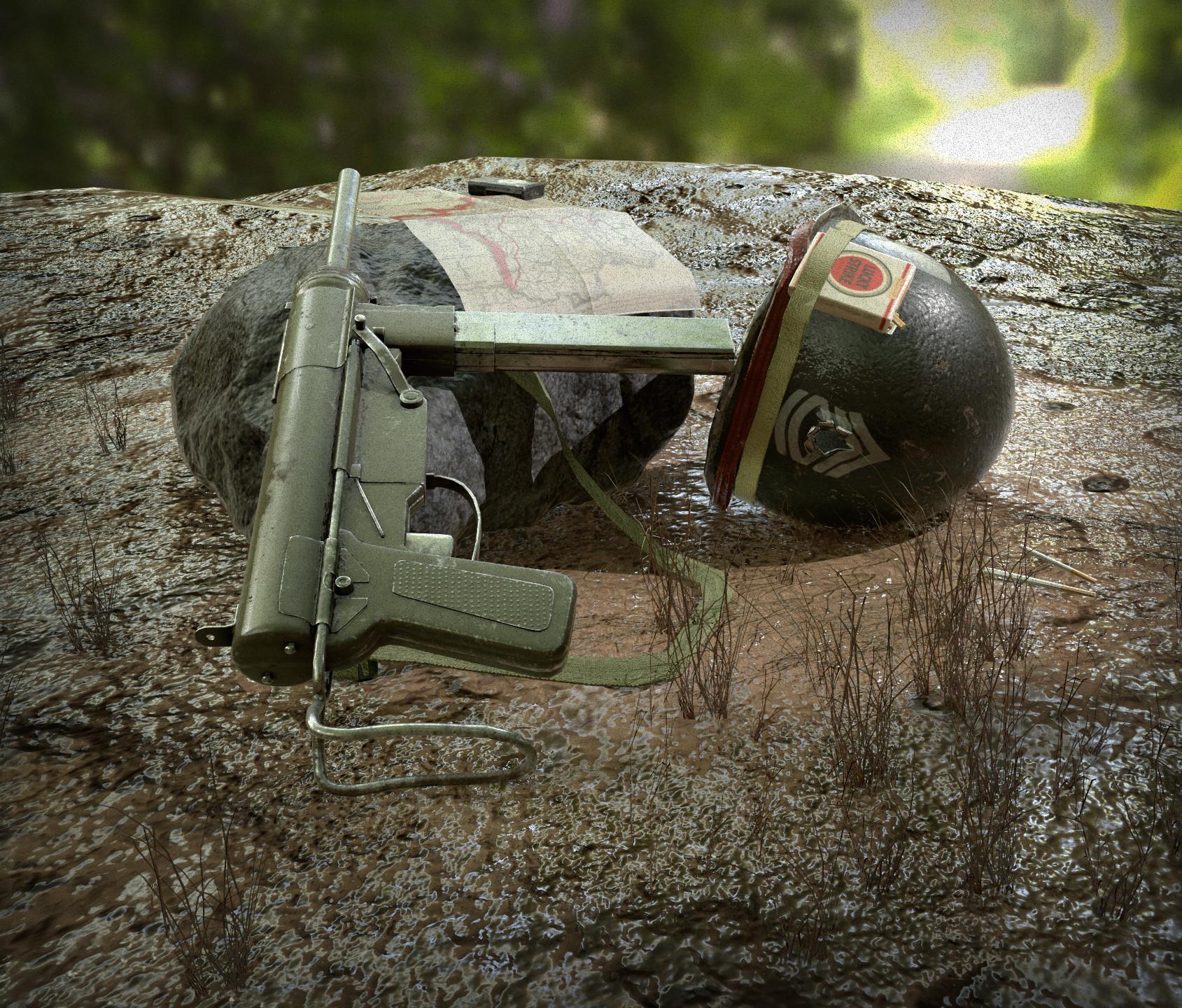 M3 Submachine Gun - Worn Texture