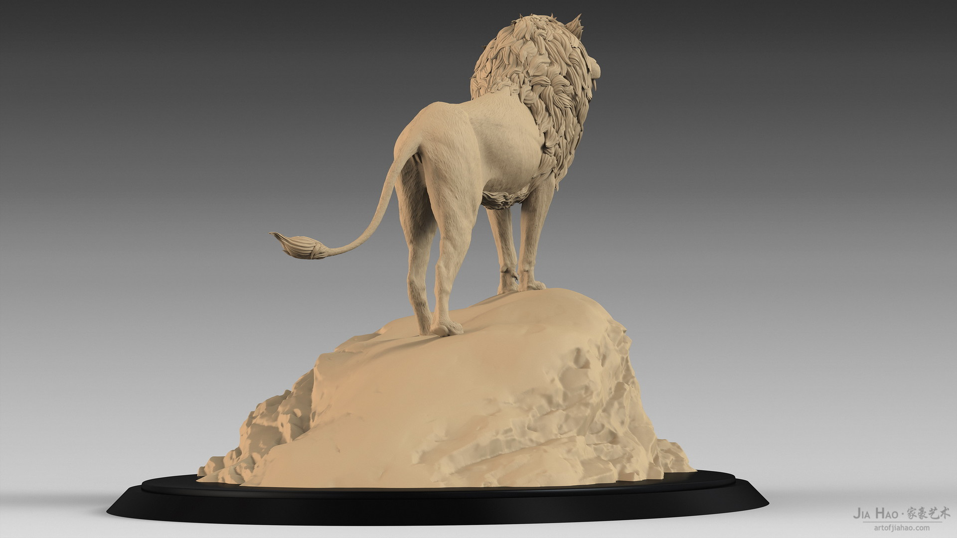 Jia hao lion digitalsculpturea 06