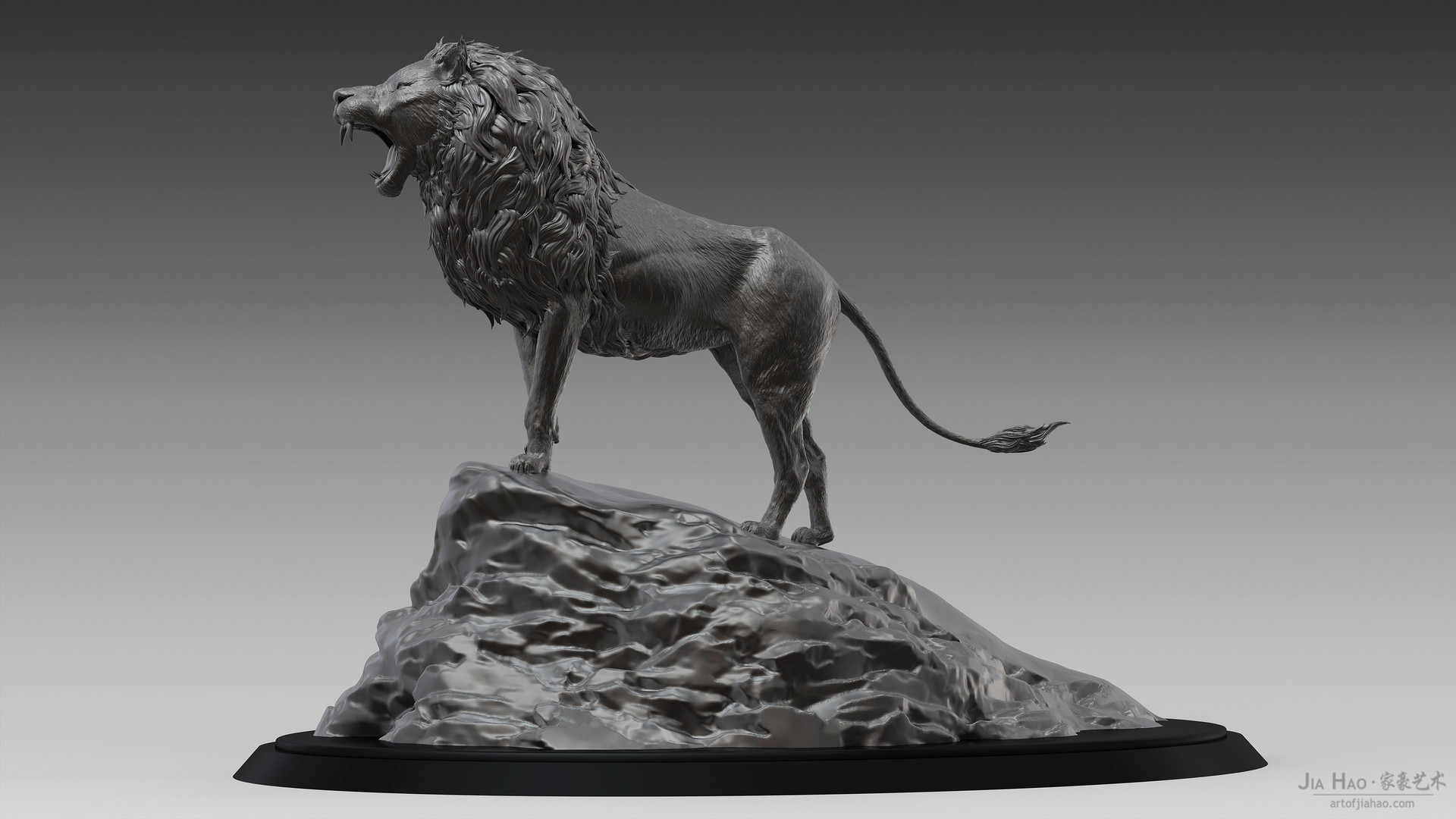 Jia hao lion digitalsculpture 01 02