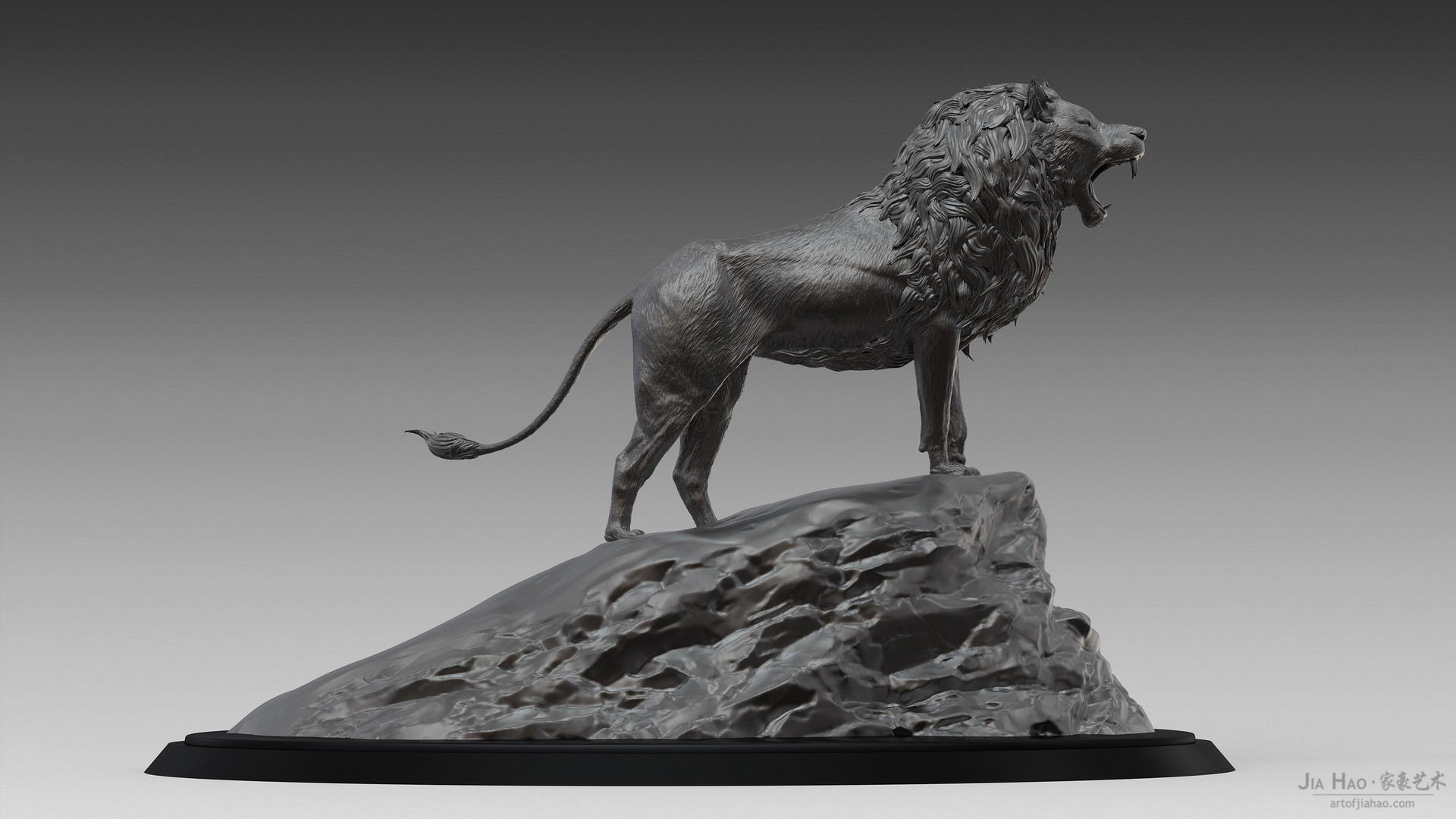 Jia hao lion digitalsculptureb 03