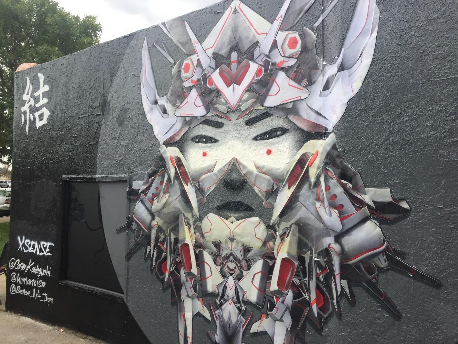 XSENSE mural, collaboration with Casey Kawaguchi