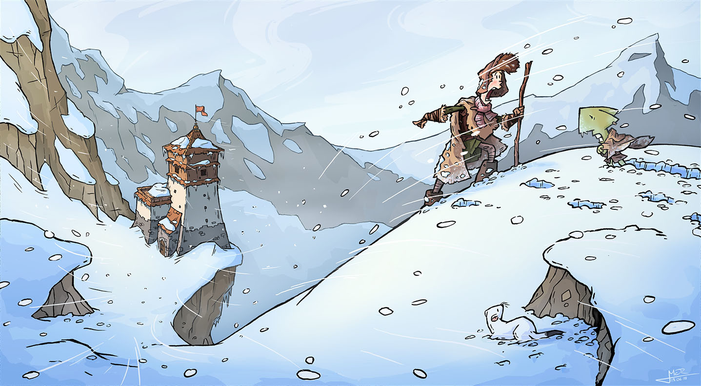 The Snowtop mountains can be a tough place to adventure.
