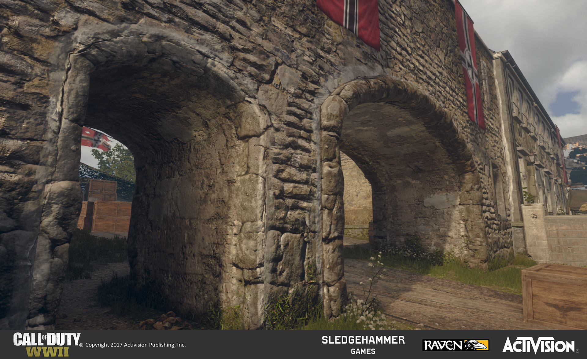Worked on geometry and blending existing materials on arched passageways for bridge.