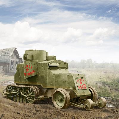Valery petelin austin kegresse armored car