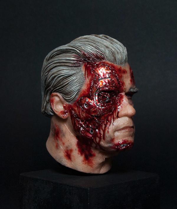 Terminator Genisys/ cast resin/ sculpted @radziewiczsculptor, painted Adam Nguyen