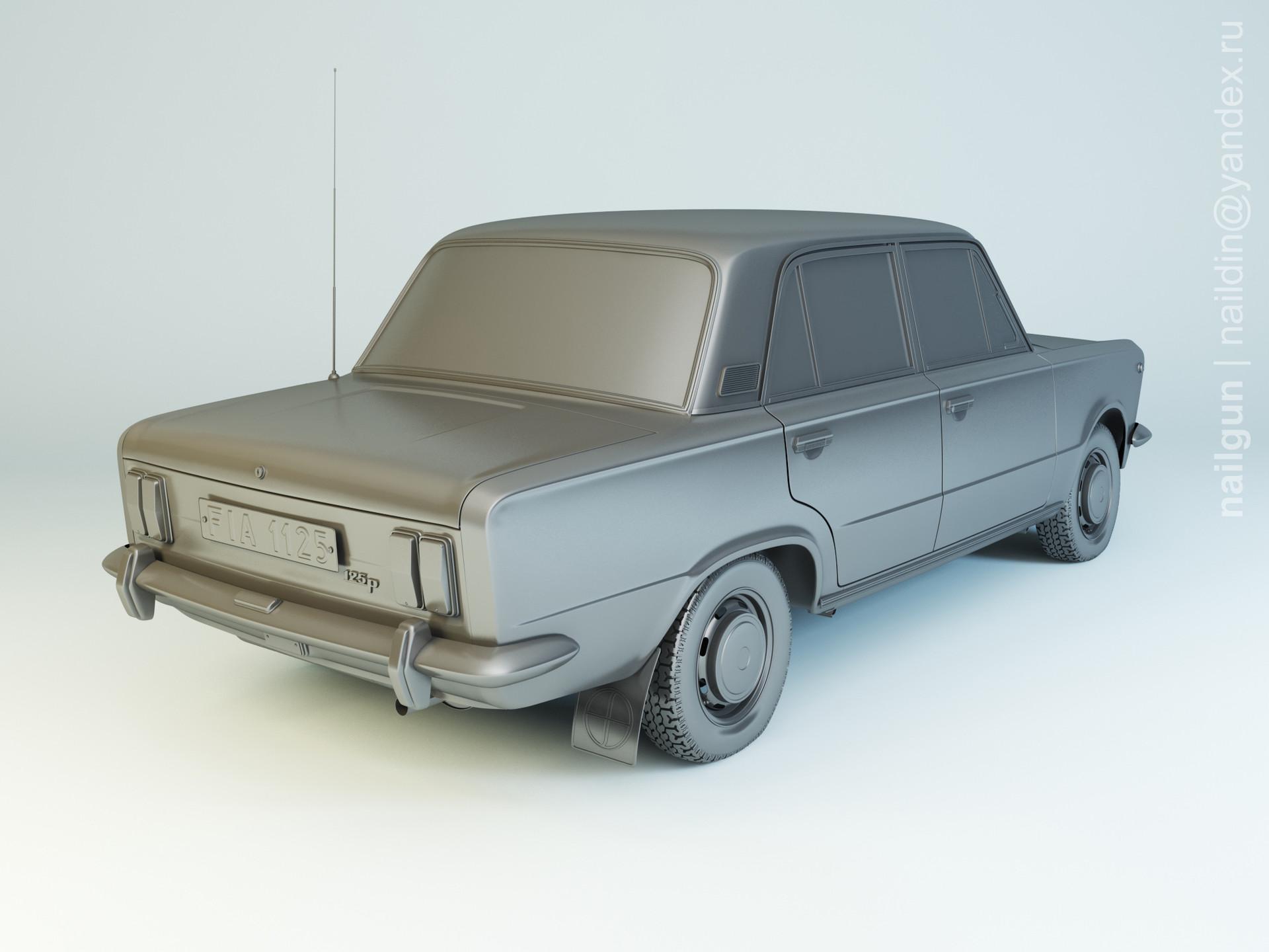 Nail khusnutdinov als 165 001 fiat 125p modelling 1