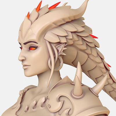 symmetra dragon skin highpoly