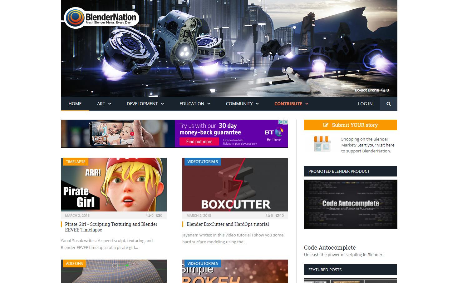 Featured in blendernation.com!