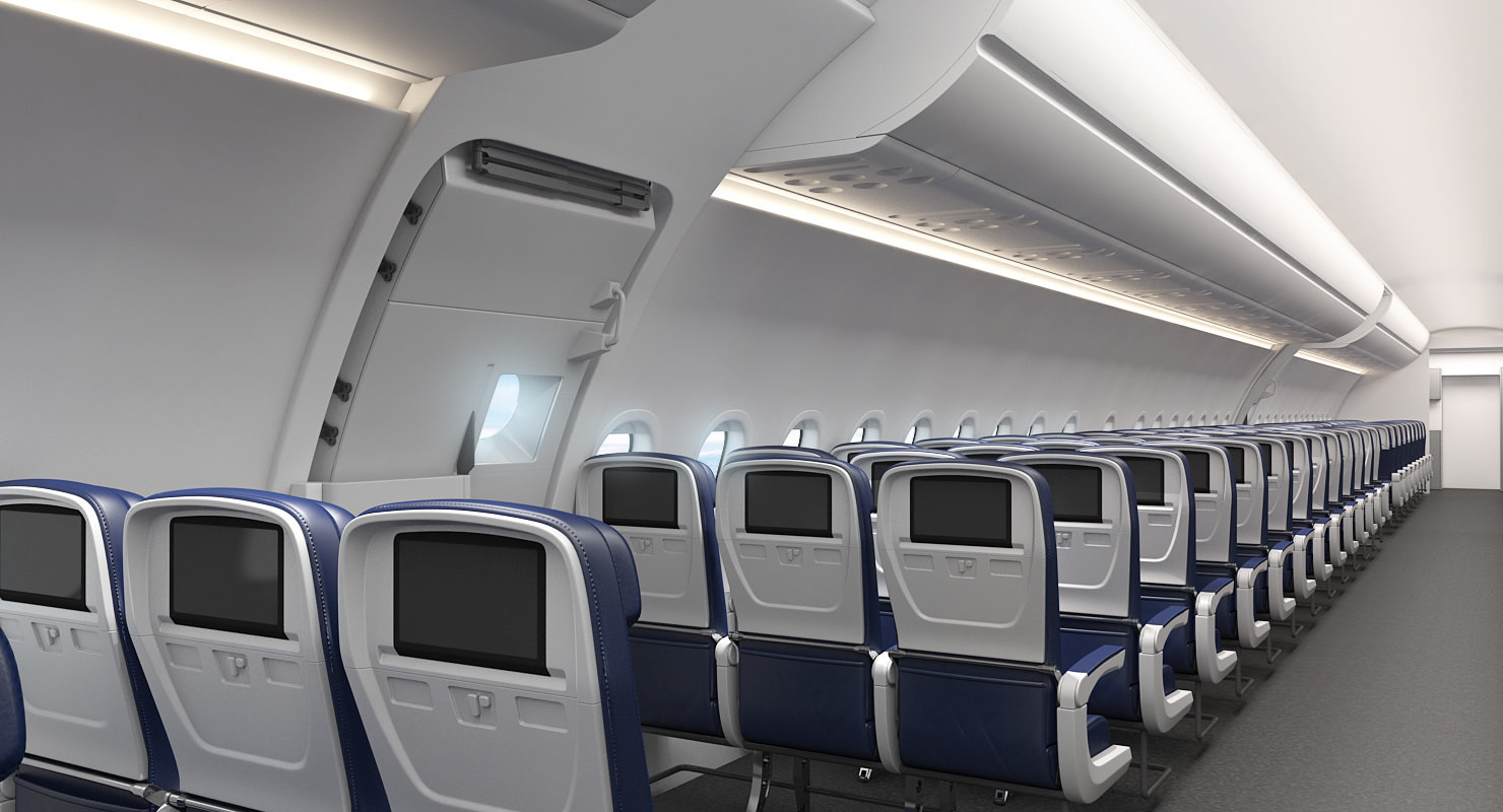 Artstation Airbus A321 Lufthansa With Interior 3d Model Andrey