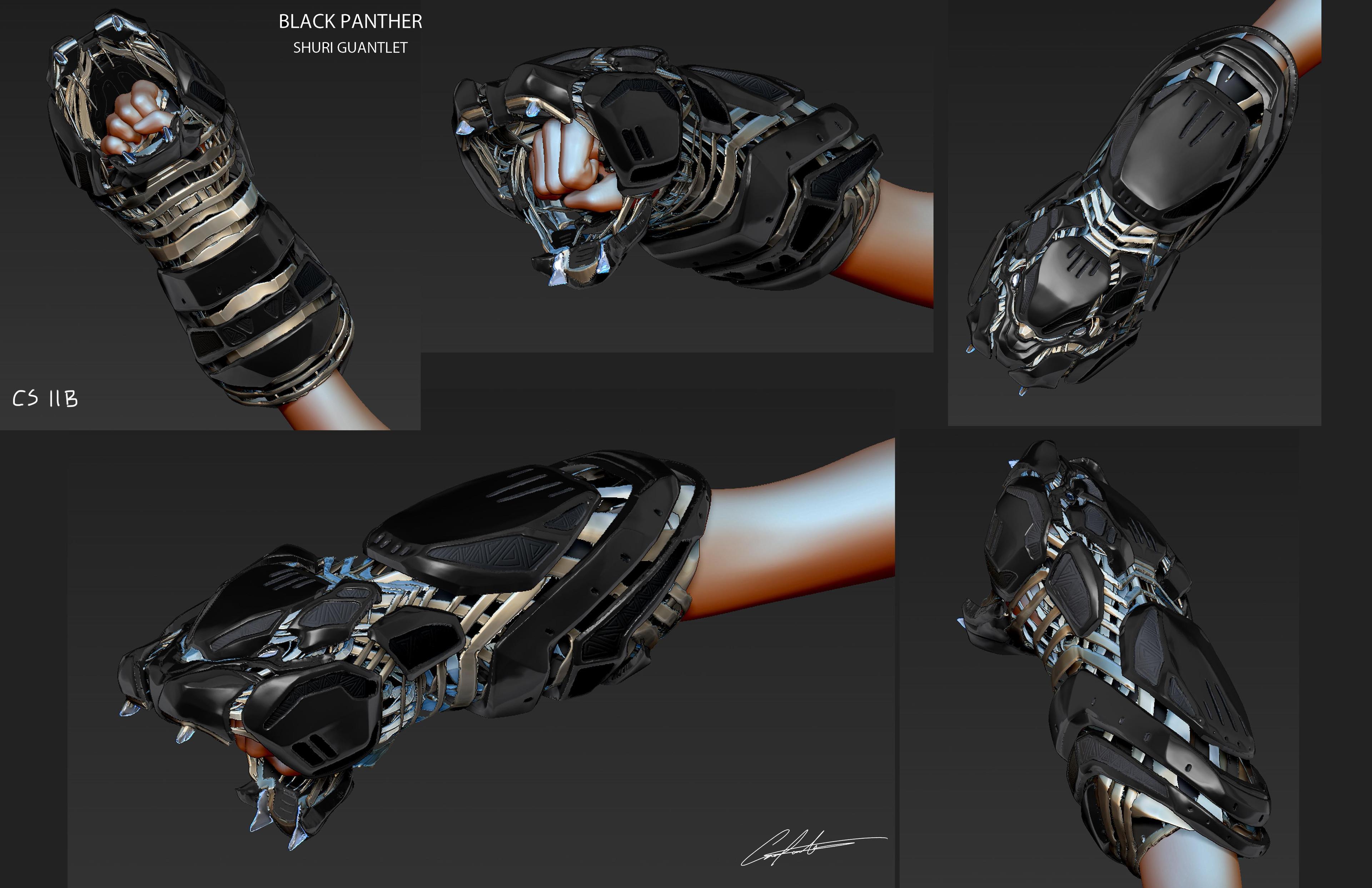 Black Panther Shuri Guantlet Designs