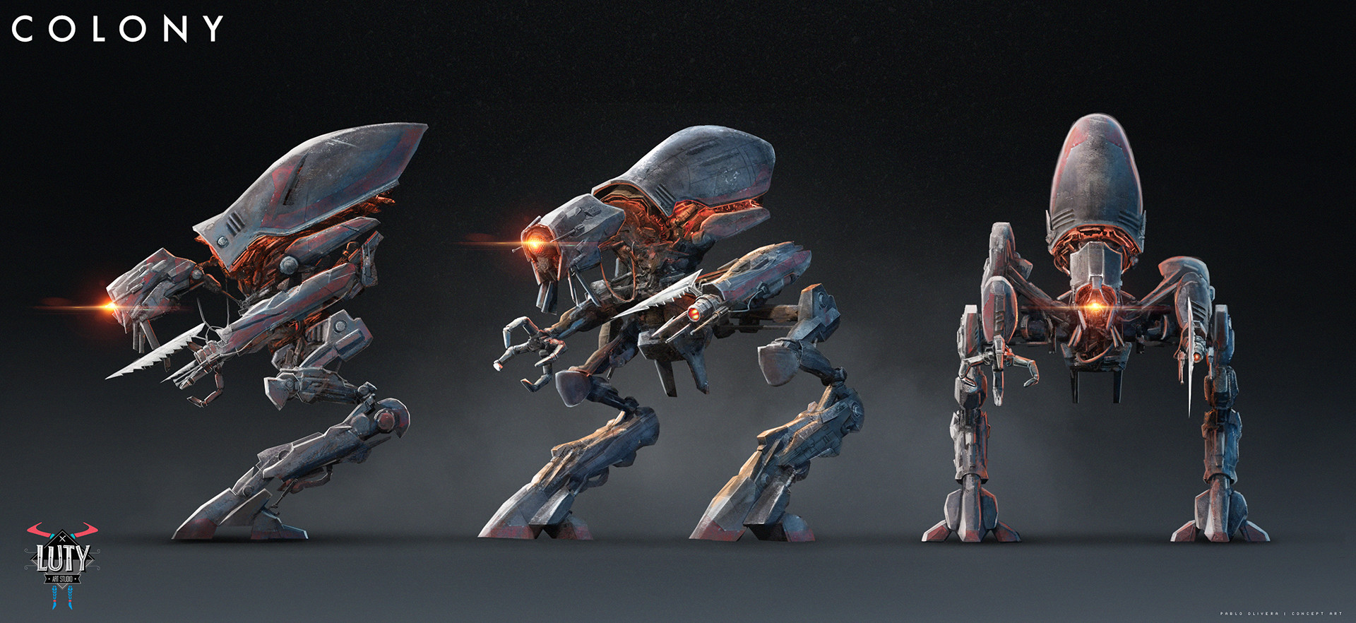 Concept previs ( Zbrush model + photoshop textures)