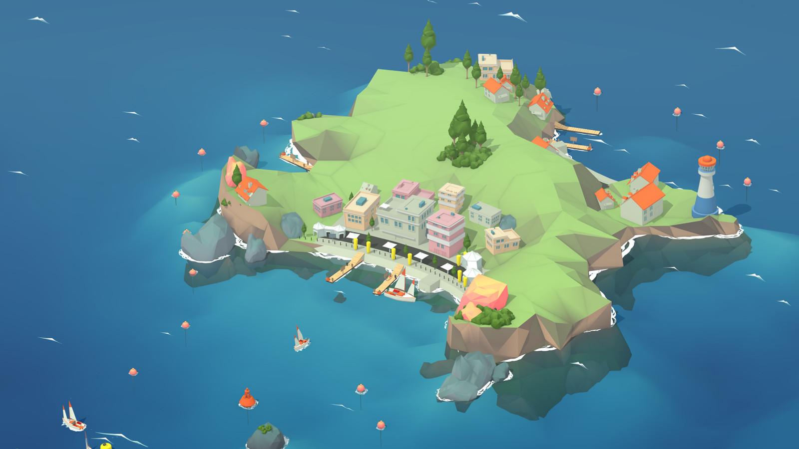 Rendu de l'île + effet atmosphérique