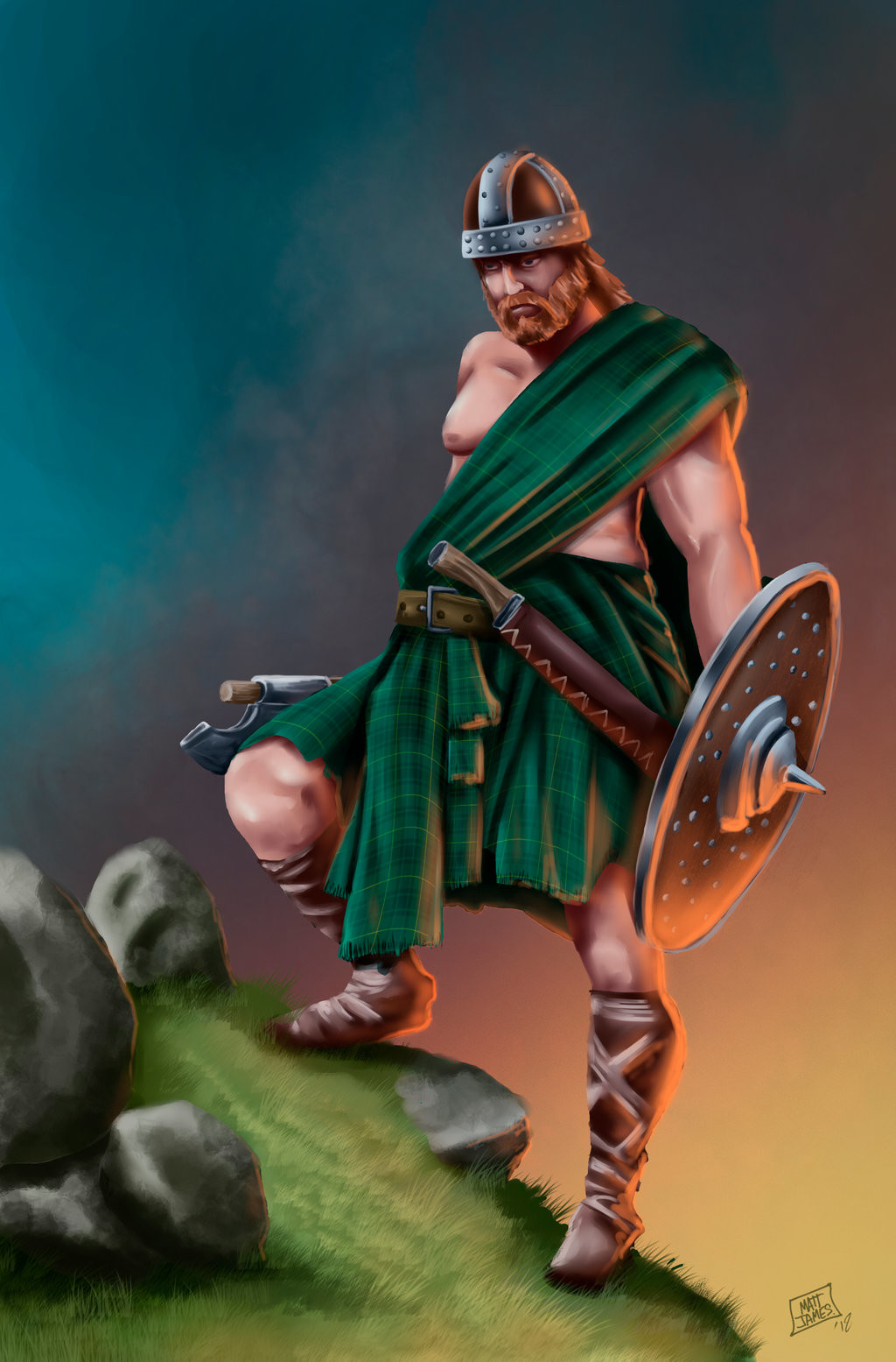 Matt james highland barbarian by snakebitartstudio dc4s4oo