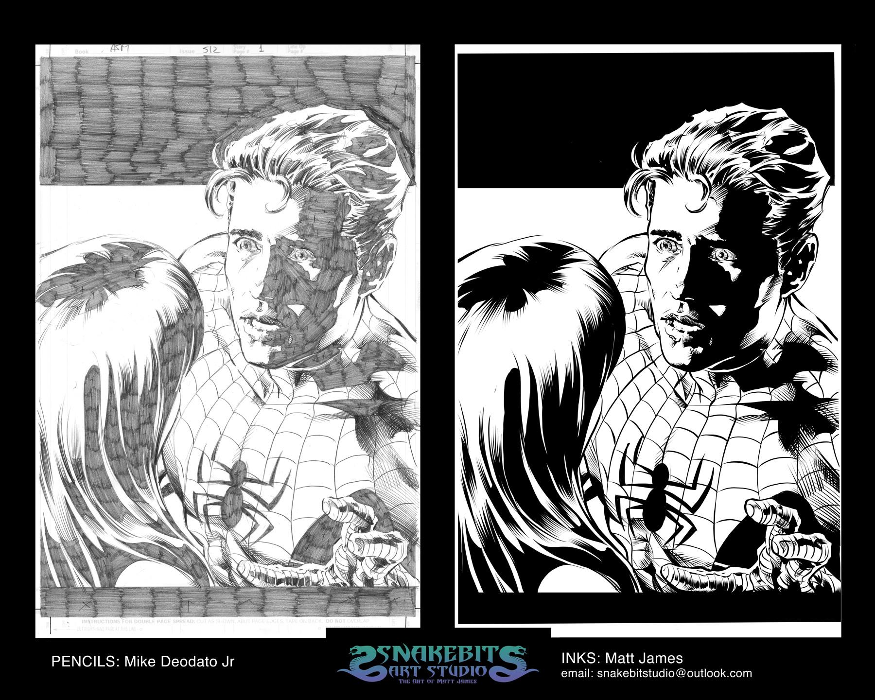 Matt james ink portfolio deodato spiderman 1 hr