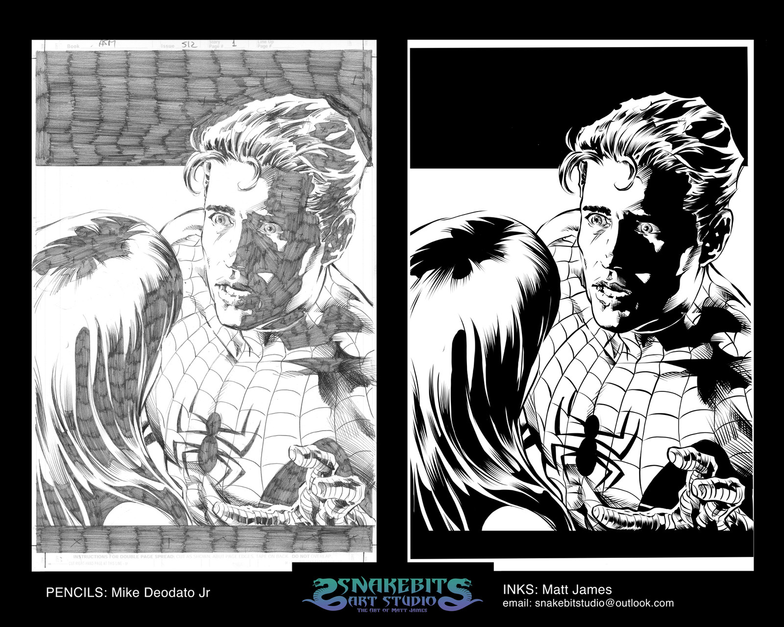 Mike DeoDato Jr. Spiderman Pages