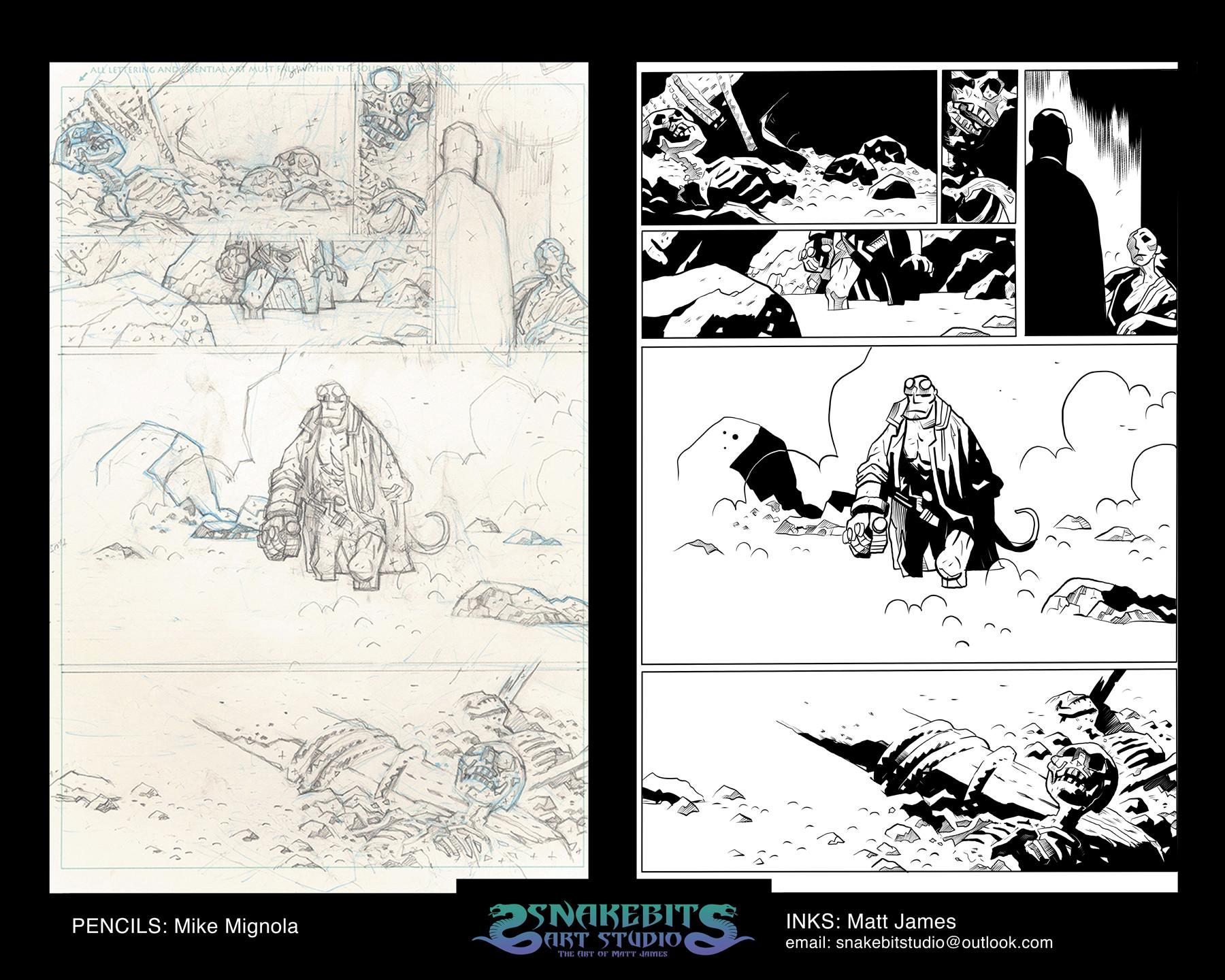Matt james ink portfolio hellboy page 4 hr